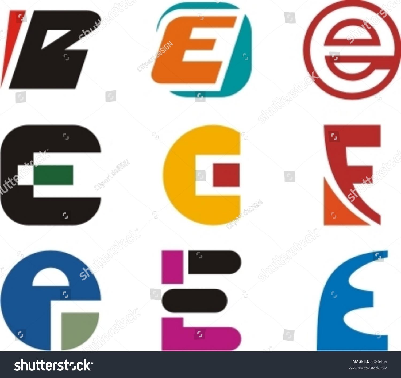 alphabetical logo design concepts letter e stock vector 2086459 alphabetical logo design concepts letter e check my portfolio for more of this series