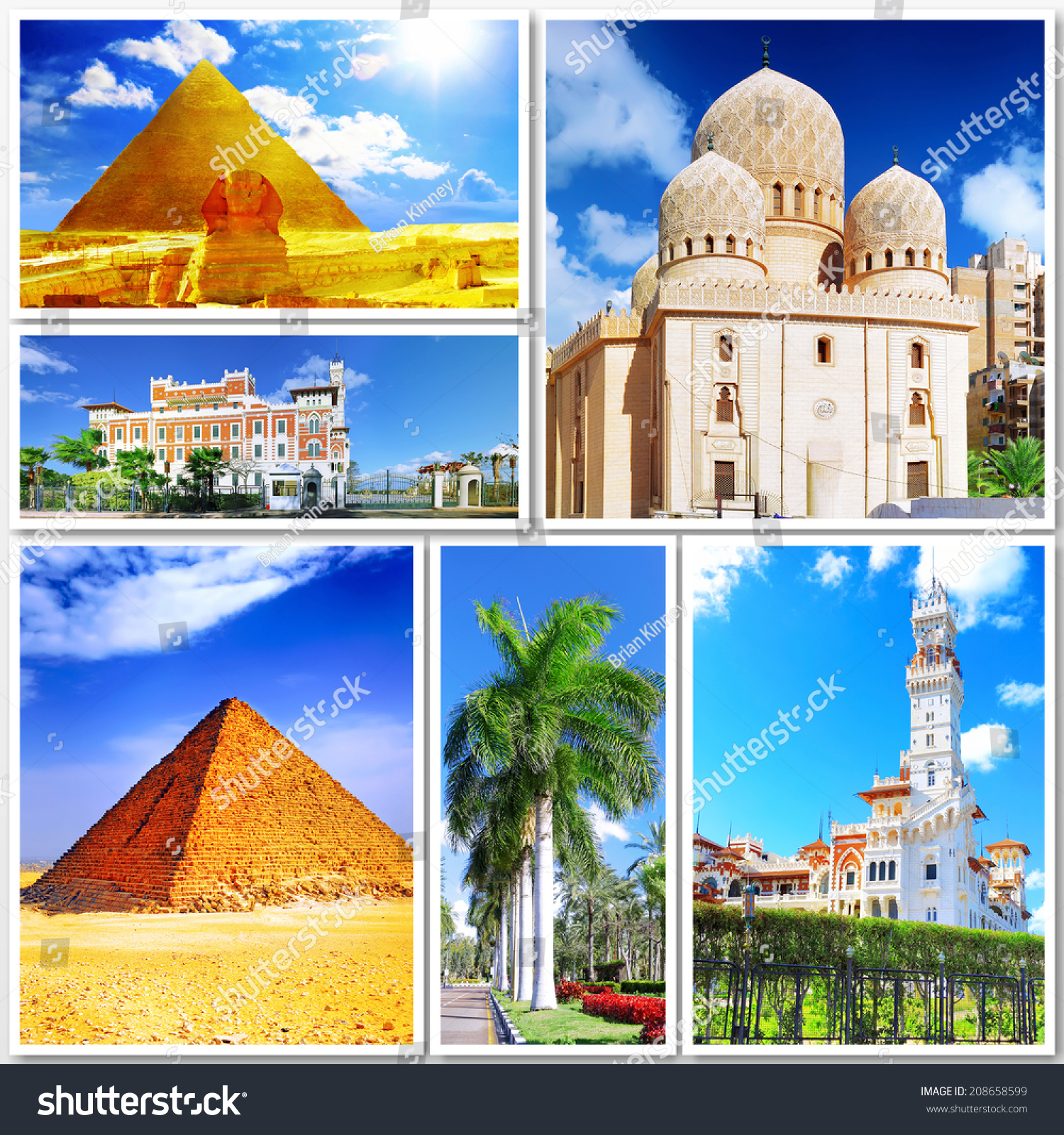 Collage Beautiful Egypt Africa Stock Photo Shutterstock - Is egypt in africa
