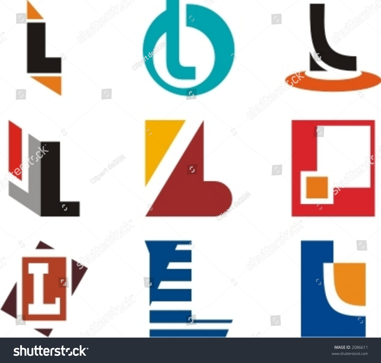 alphabetical logo design concepts letter l stock vector 2086611 alphabetical logo design concepts letter l check my portfolio for more of this series