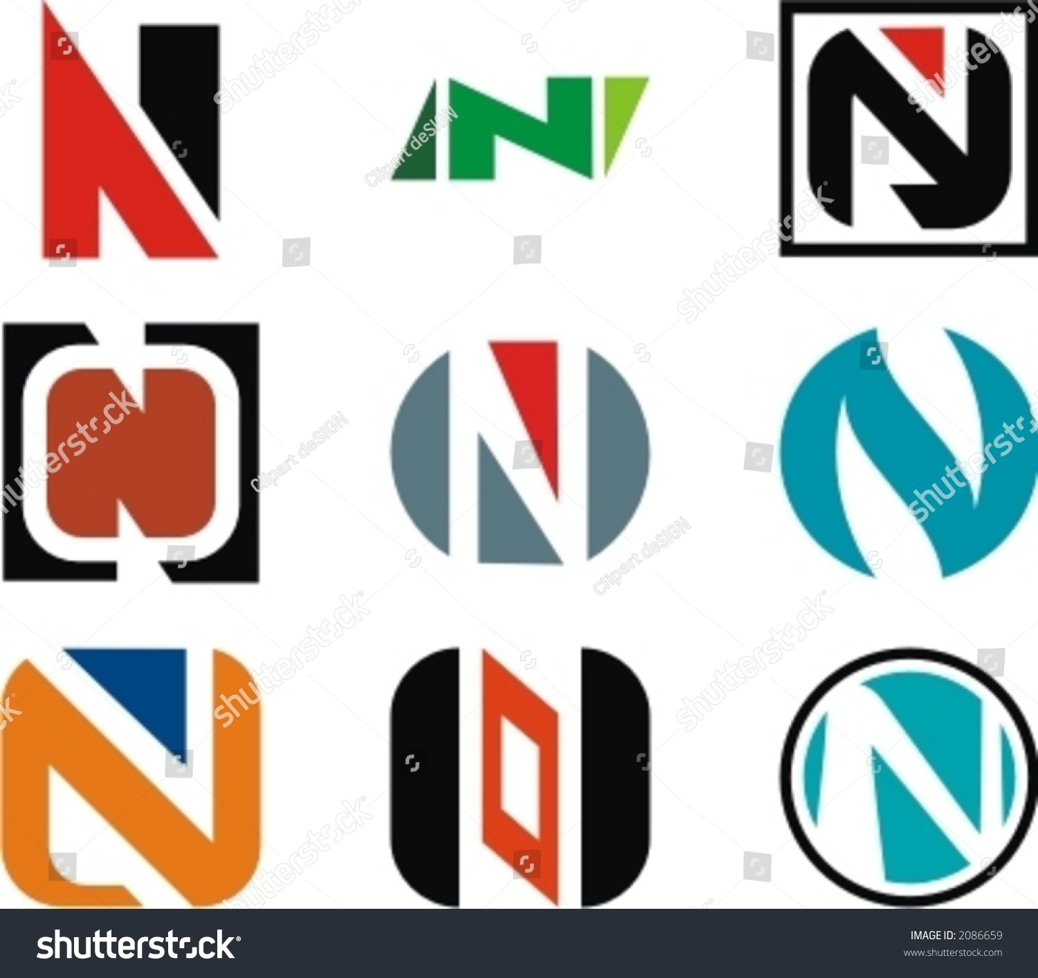 alphabetical logo design concepts letter n stock vector  alphabetical logo design concepts letter n check my portfolio for more of this series
