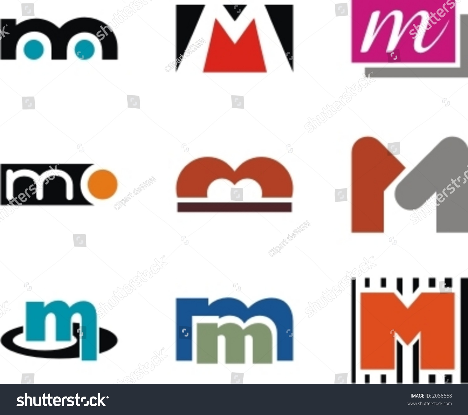 alphabetical logo design concepts letter m stock vector 2086668 alphabetical logo design concepts letter m check my portfolio for more of this series