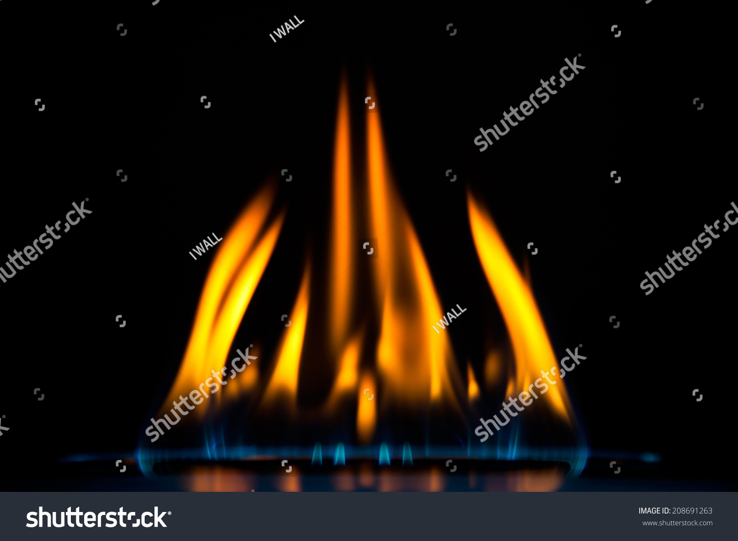 how to fix orange flame on gas stove