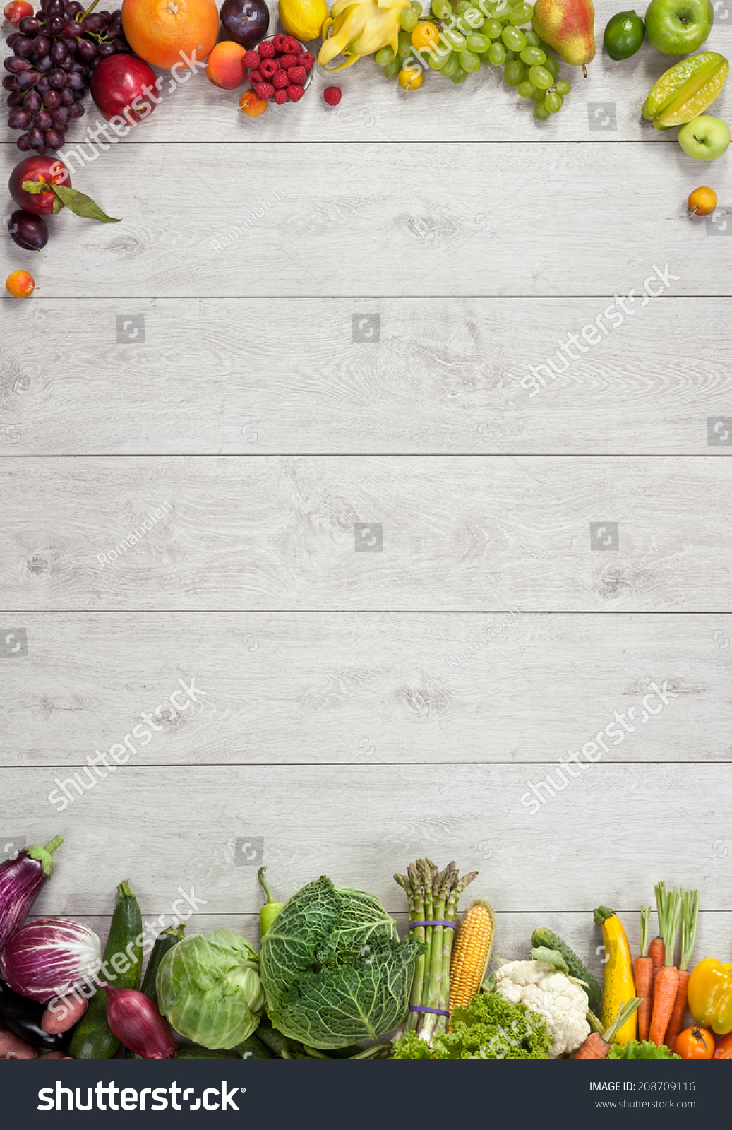 Healthy Food Background / Studio Photography Of Different ...