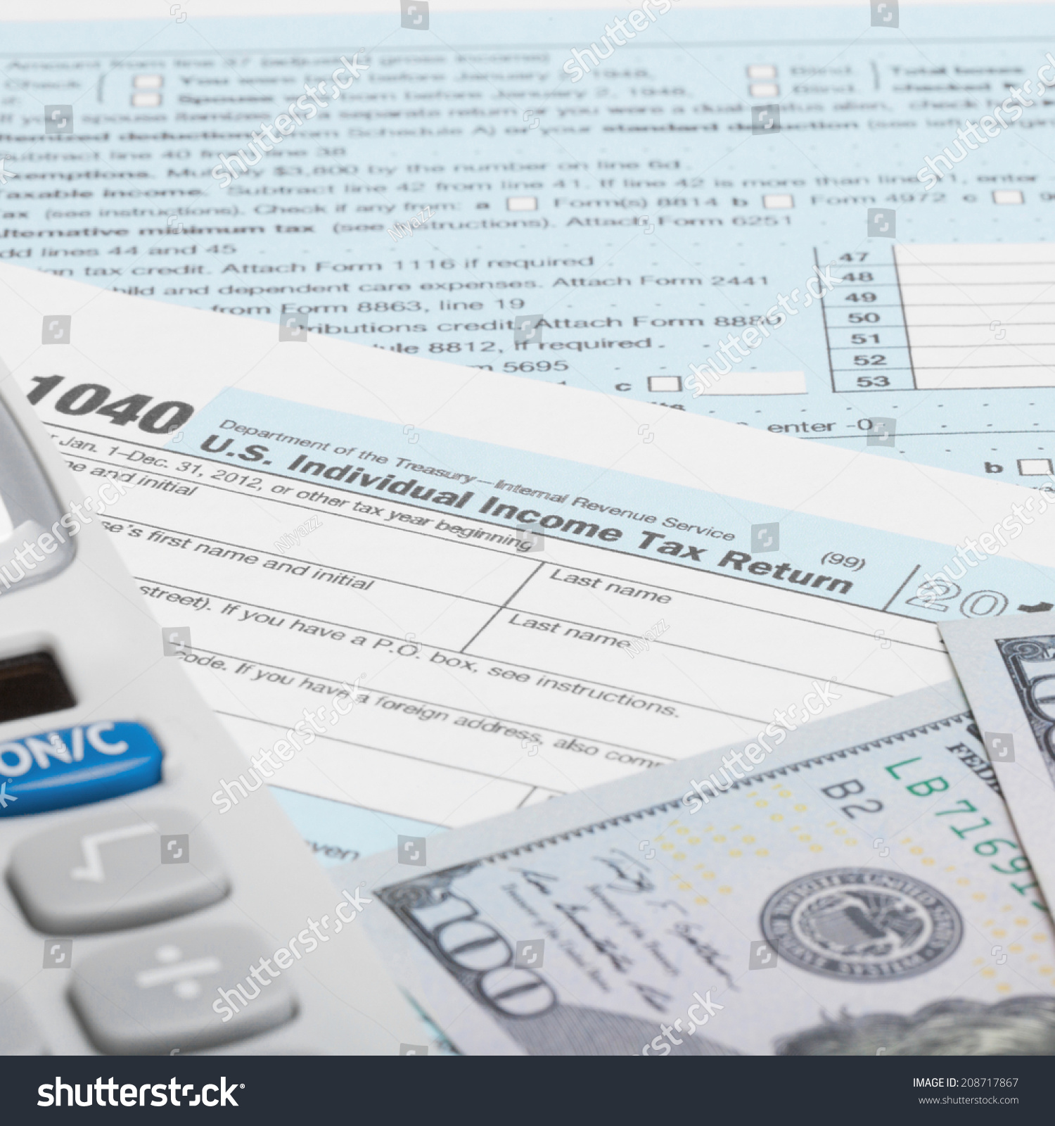 Tax Form 1040 with dollars and pills - 1 to 1 ratio | EZ Canvas