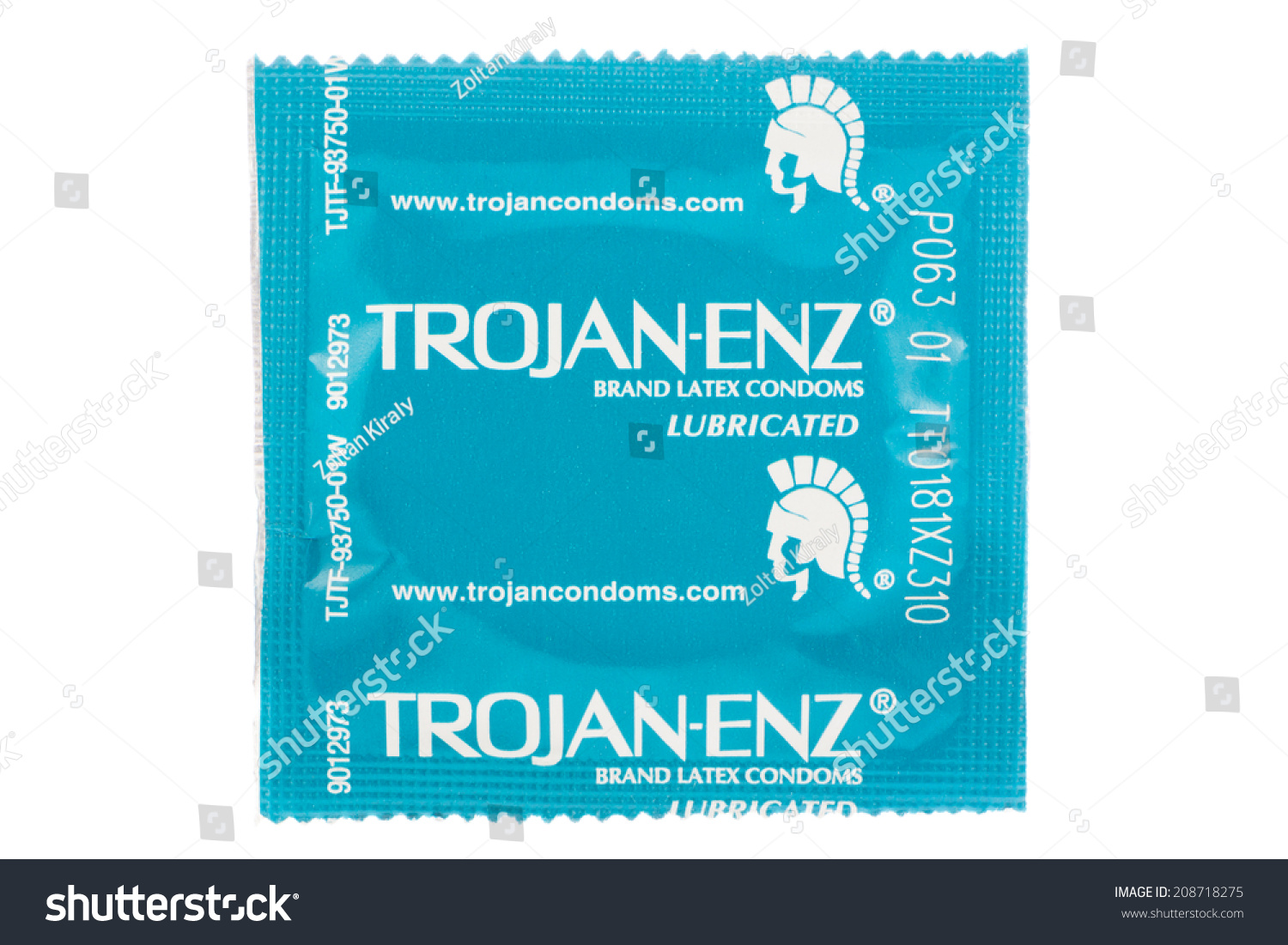 Trojan condom wrappers