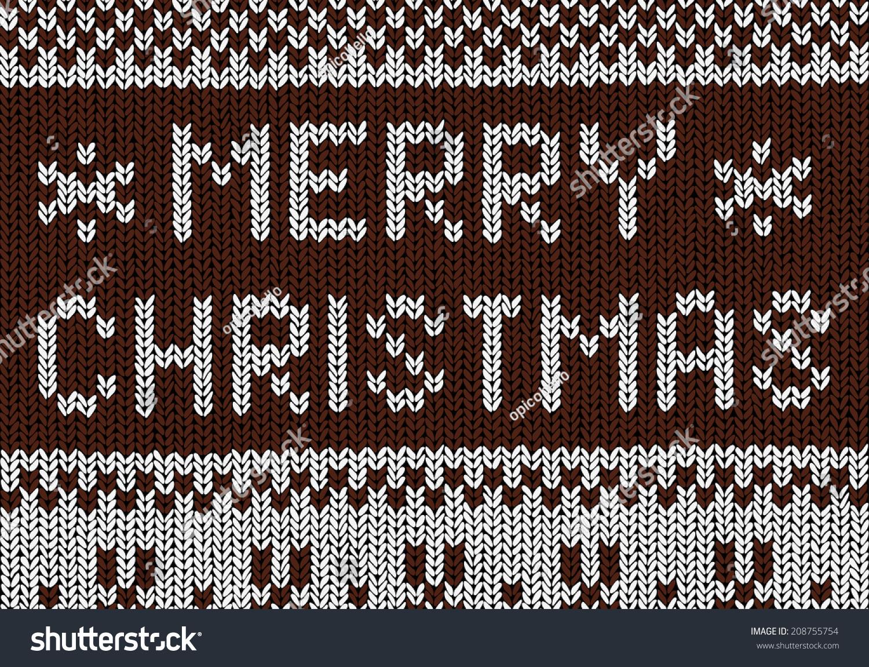 Christmas Background Norwegian Knitting Patterns Stock Vector Royalty Free 208755754