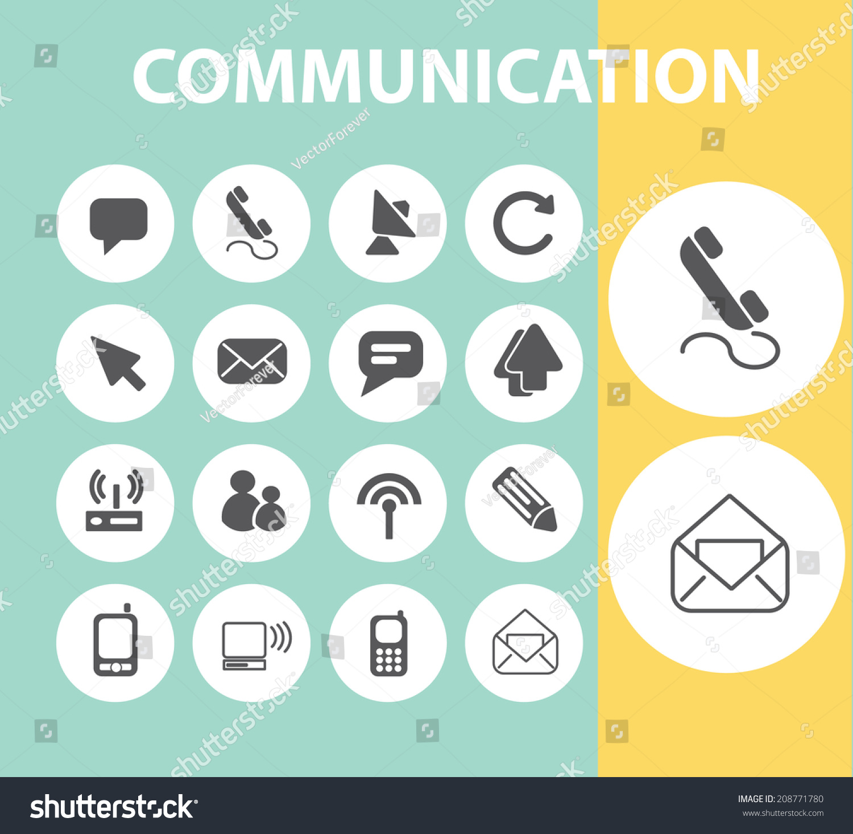 Stock Vector Communication Web