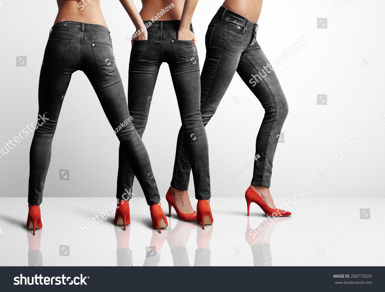 Grey Black Jeans Ye Jean