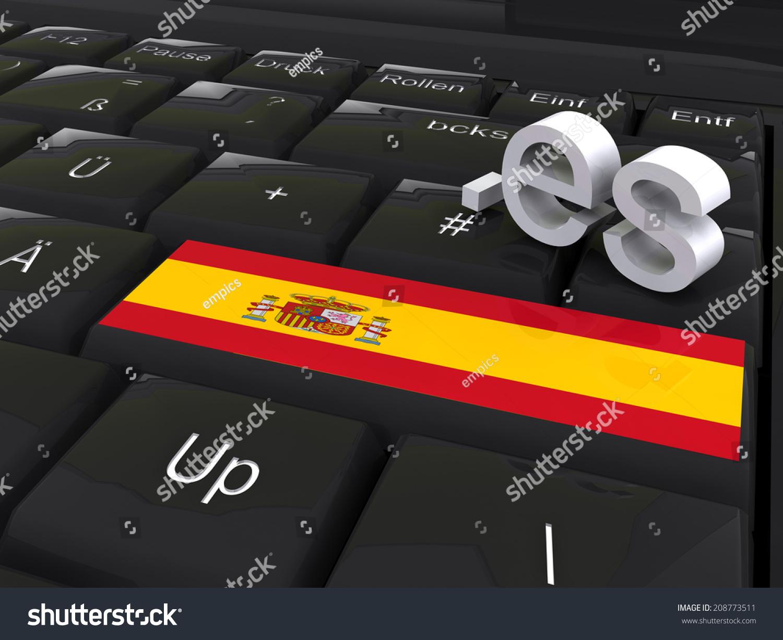 Enter Key Country Code Spain Stock Illustration 208773511