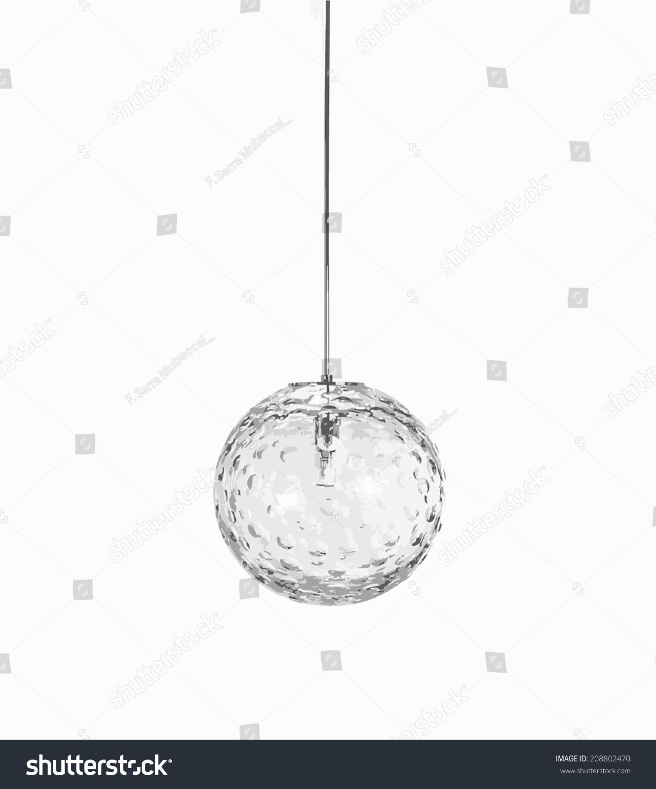 Glass Globe Chandelier Stock Vector Shutterstock