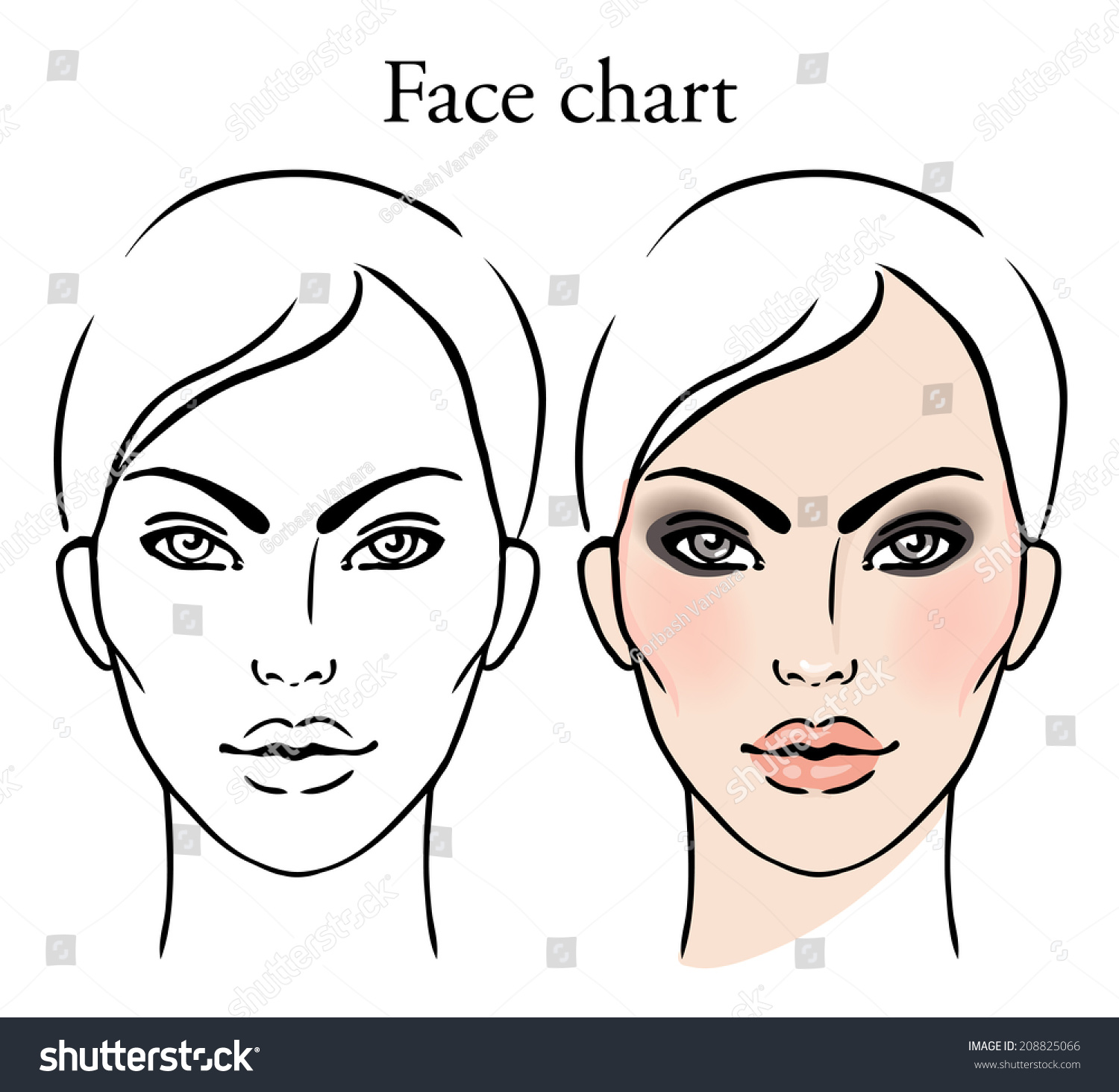 4272 Makeup Artist Stock Vector Illustration And Royalty