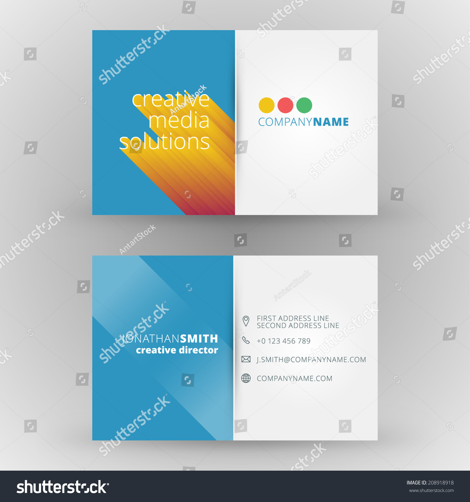 business card design template vector background stock vector