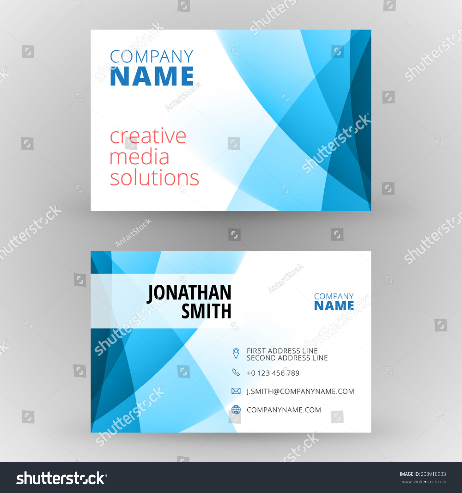 Business Card Design Template Vector Background Stock Vector ...