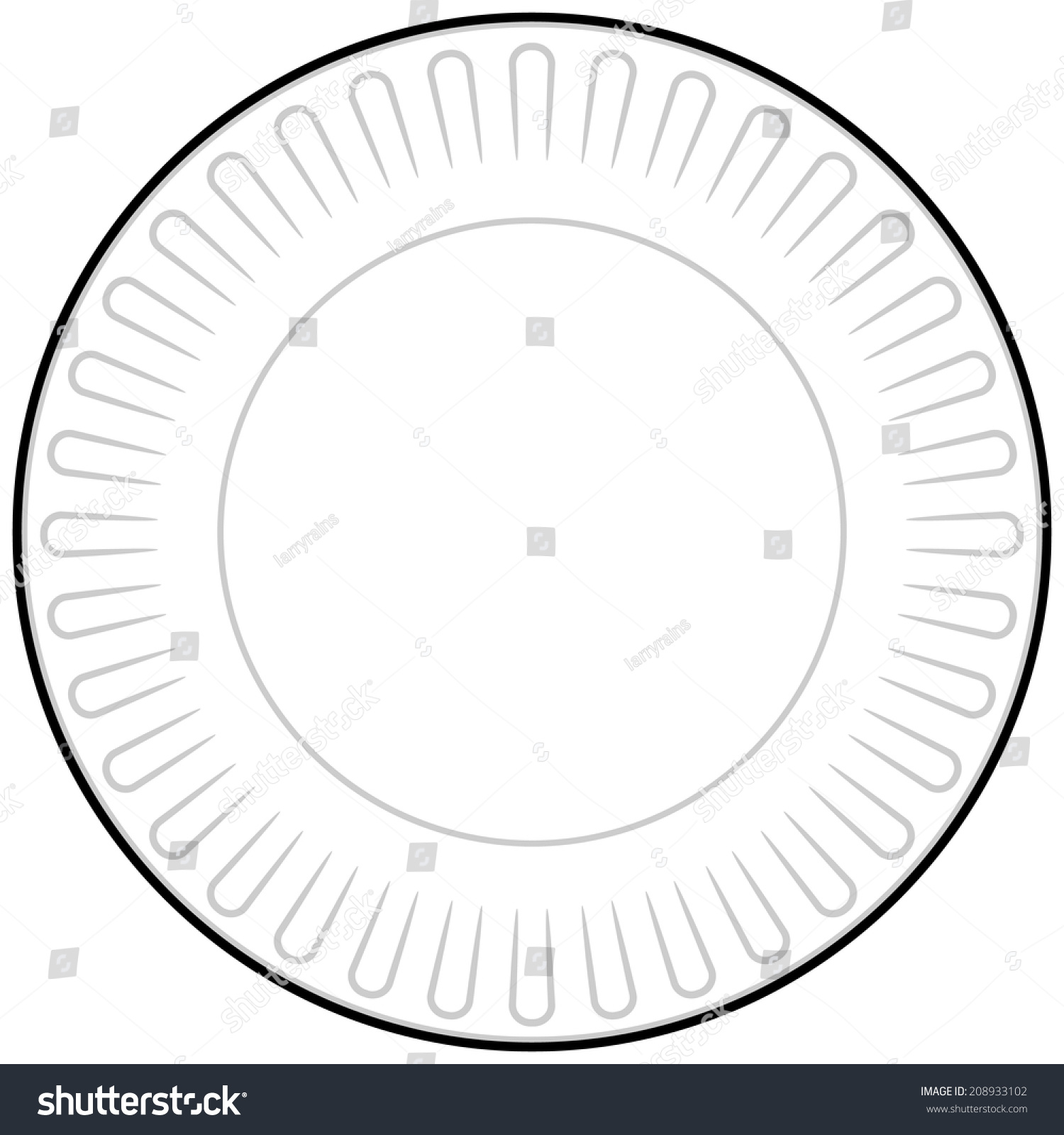 Cookout border clipart hot dog cookout invite stock vector art - Paper Plate