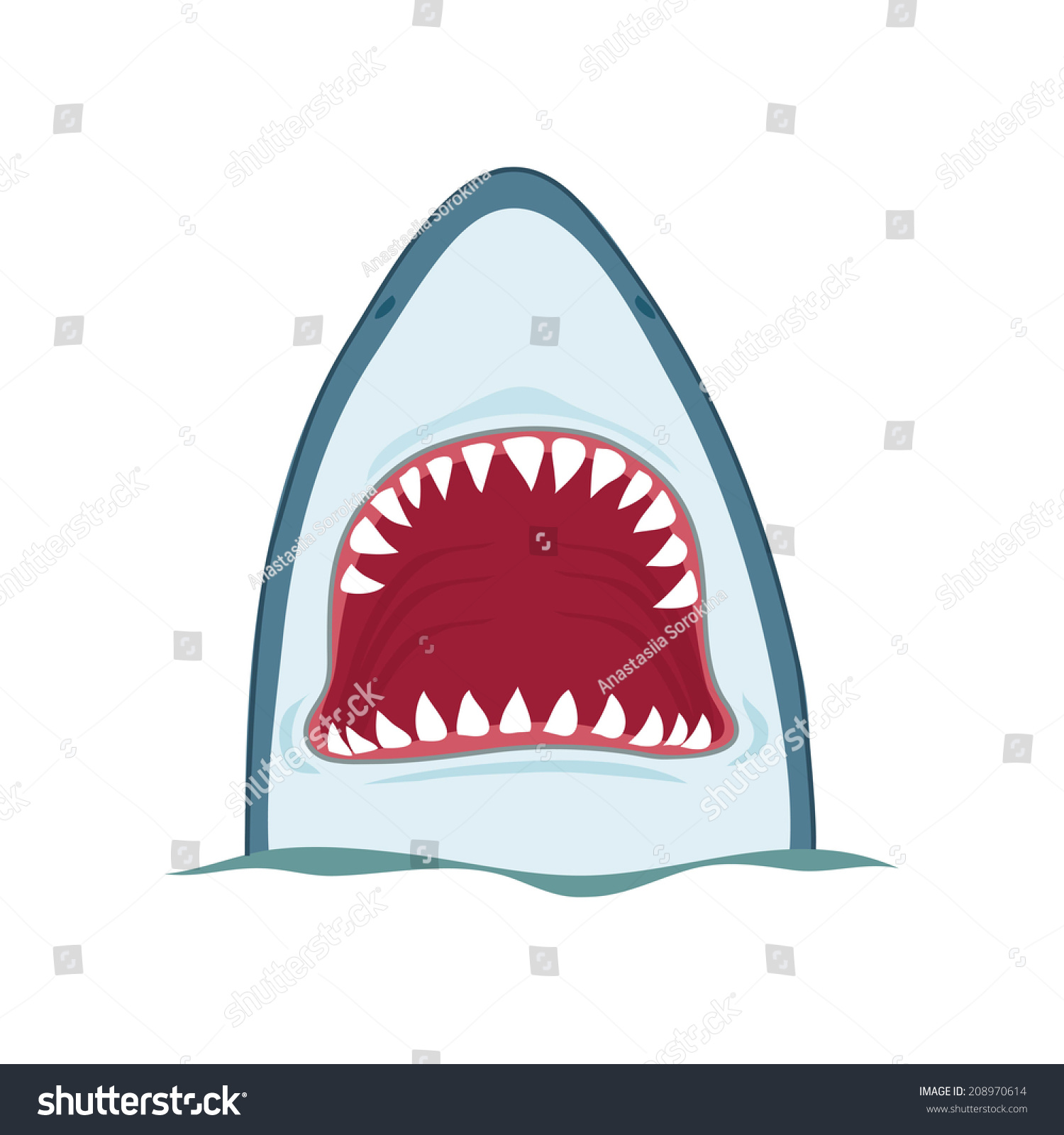 Shark Open Mouth Vector Illustration On Stock Vector HD (Royalty ... for shark drawing open mouth  568zmd