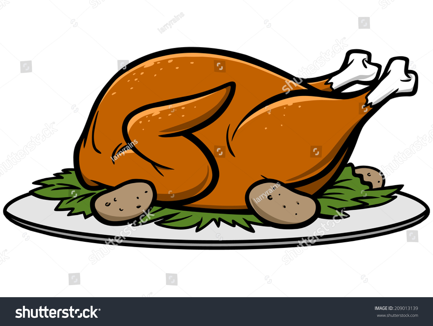 Thanksgiving turkey dinner drawing - photo#18