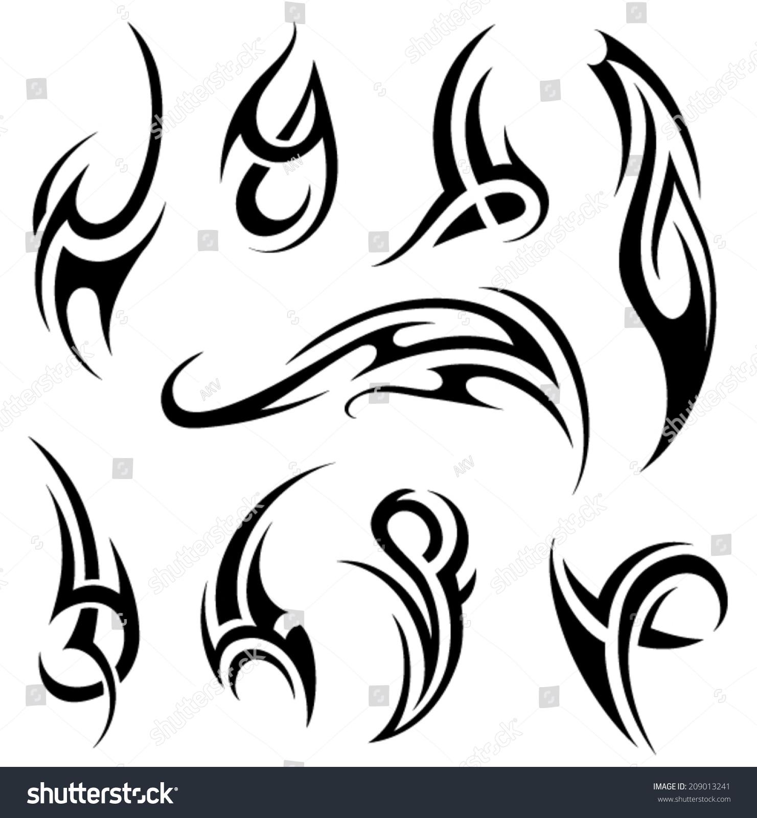 Tribal-Tattoos stock-vector-tribal-tattoo-209013241
