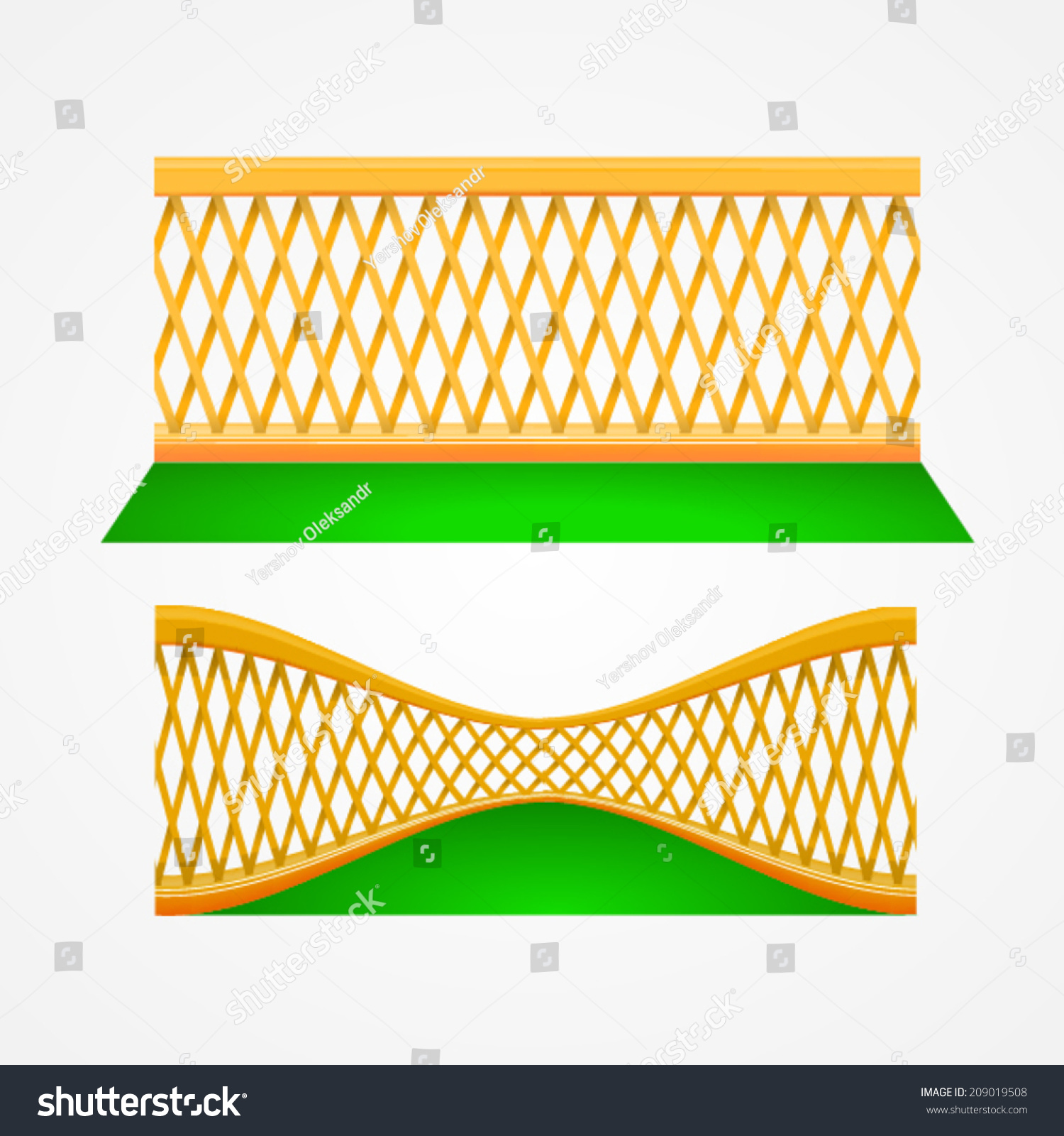 Illustration two garden trellis two wooden stock vector 209019508 illustration of two garden trellis two wooden gardening fences on grass front view and baanklon Image collections