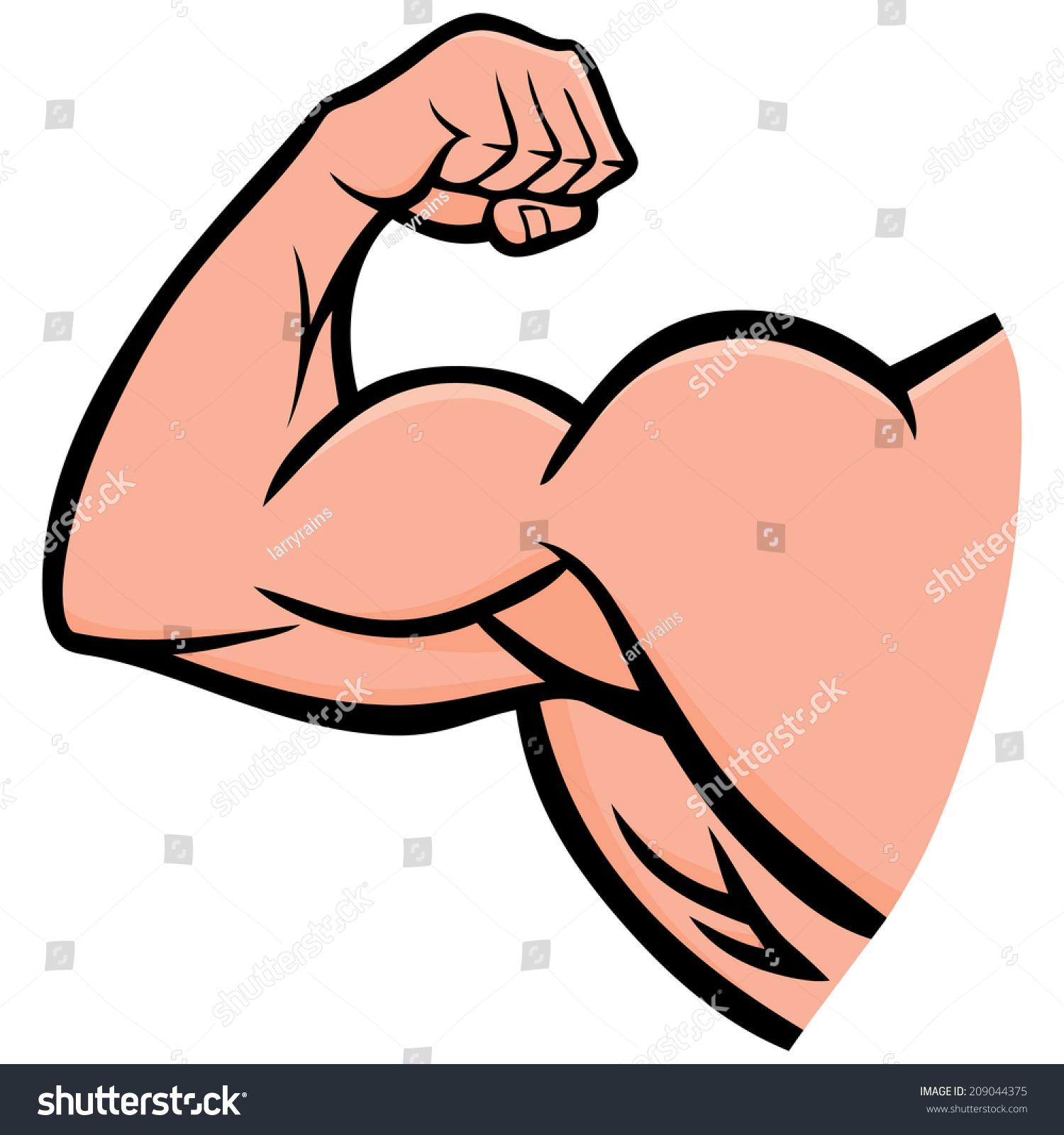 strong arm stock vector 209044375 shutterstock Human Lung Clip Art Exercising Weak Human Heart Clip Art