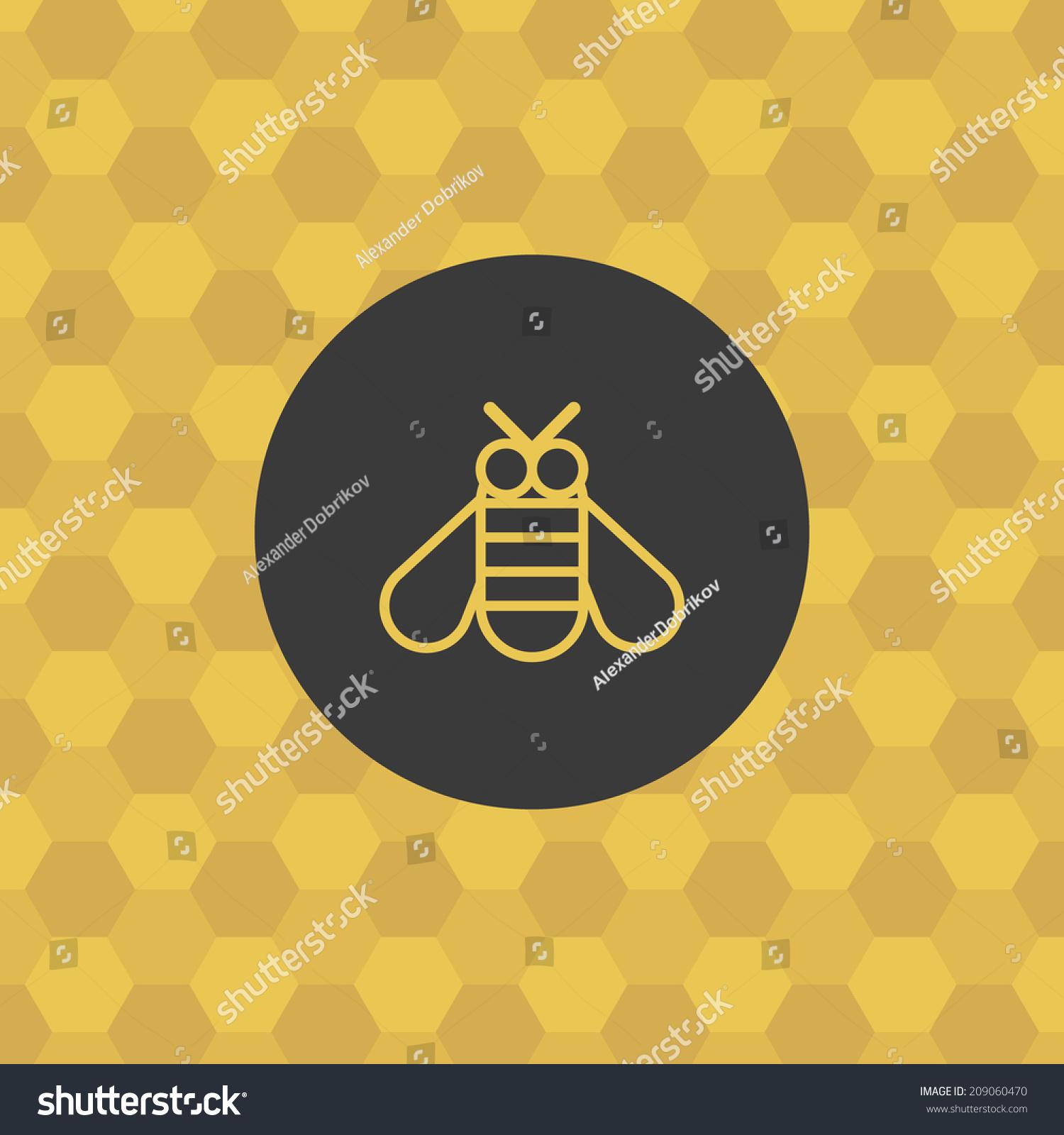 Bee icon honeycomb background bumblebee symbol stock vector bee icon with honeycomb background bumblebee symbol honey theme concept stylized design biocorpaavc