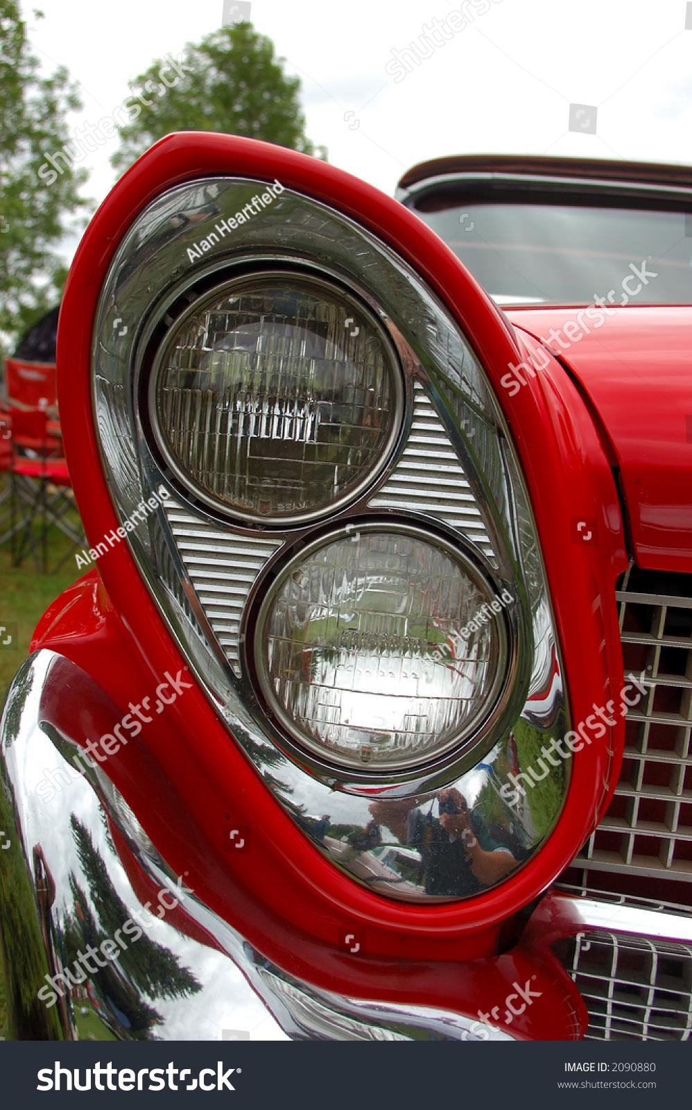 Antique Automobile Headlamps : Vintage car headlight stock photo  shutterstock