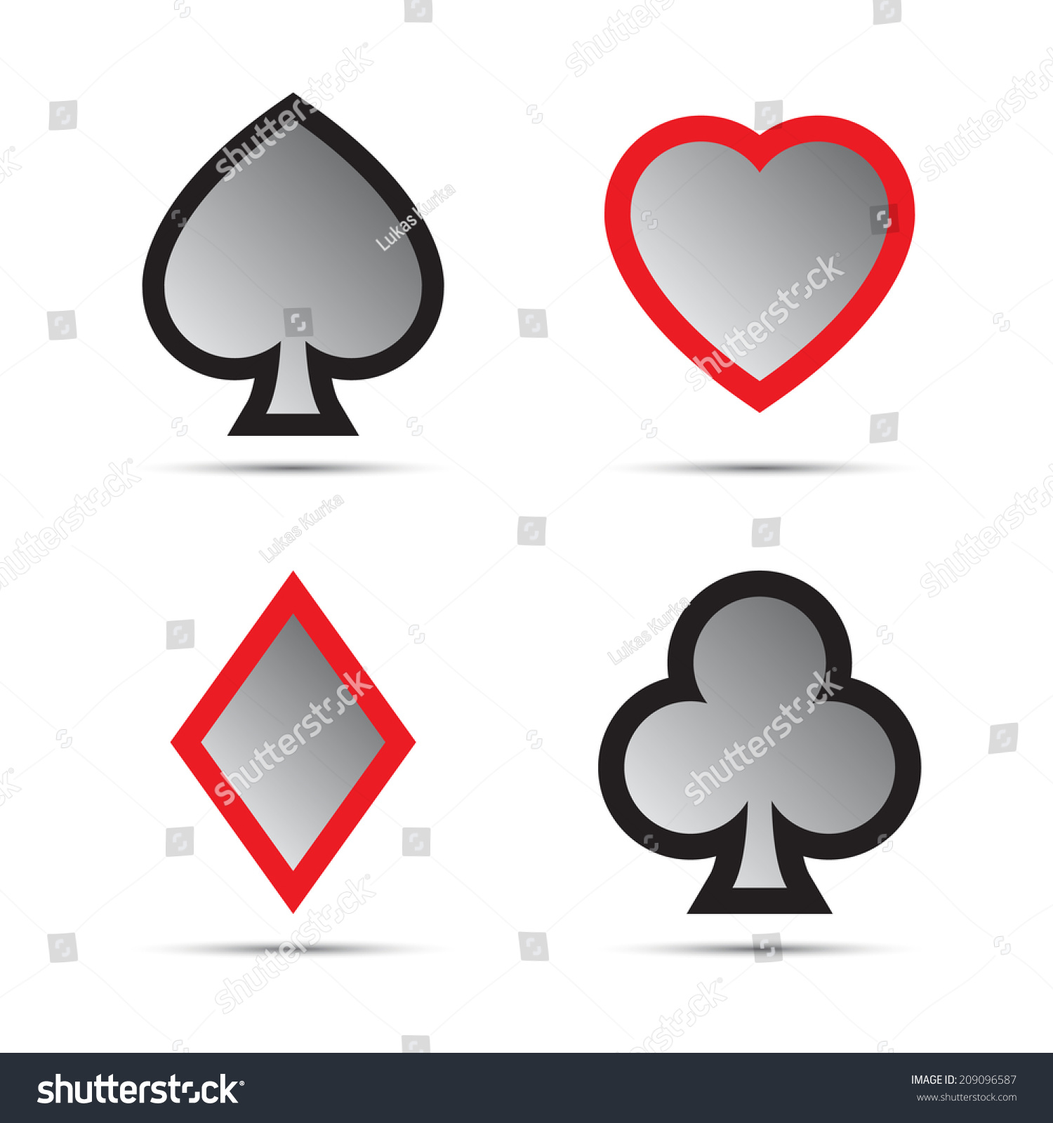 Playing card symbols isolated on white stock illustration playing card symbols isolated on white stock illustration 209096587 shutterstock biocorpaavc