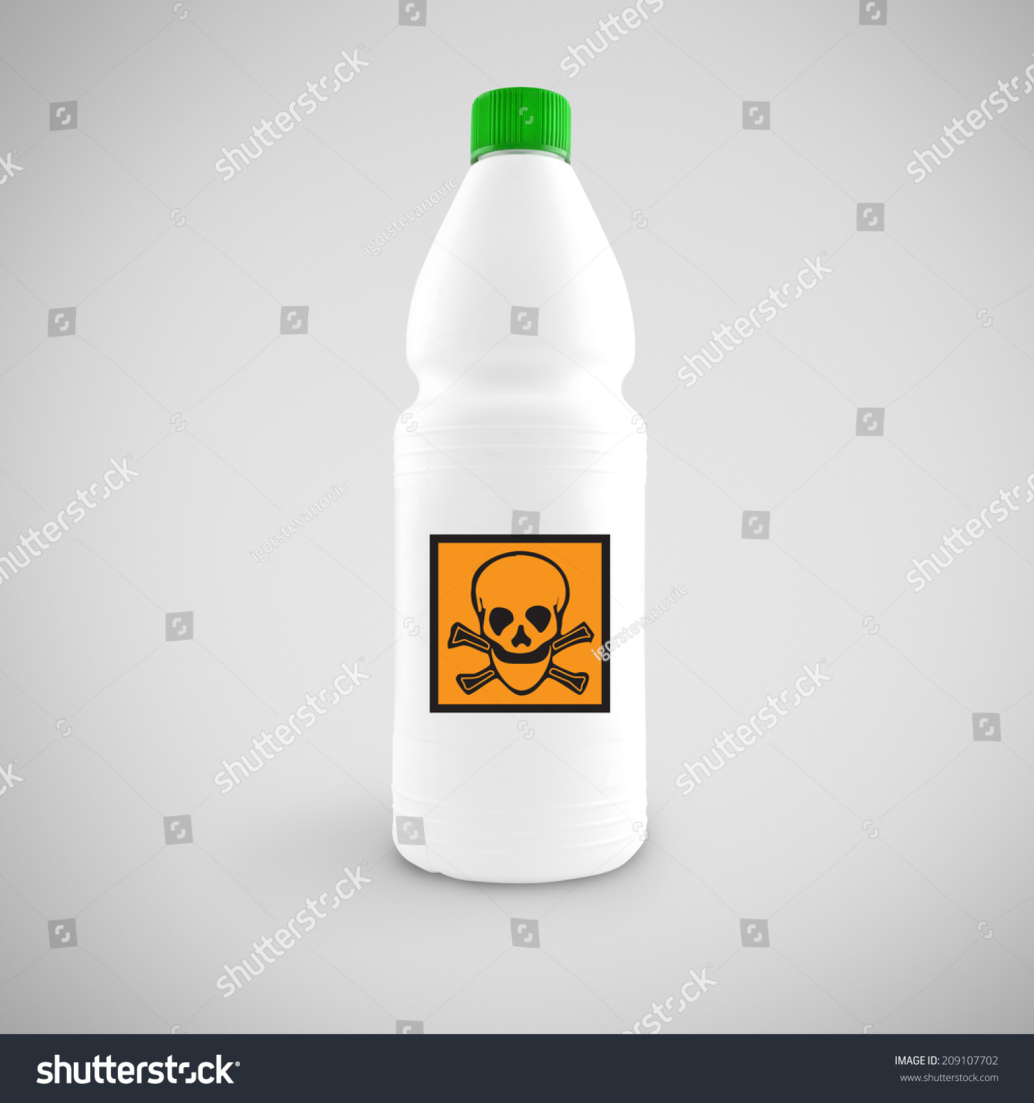 Bottle Chemical Liquid Hazard Symbol Toxic Stock Photo Edit Now