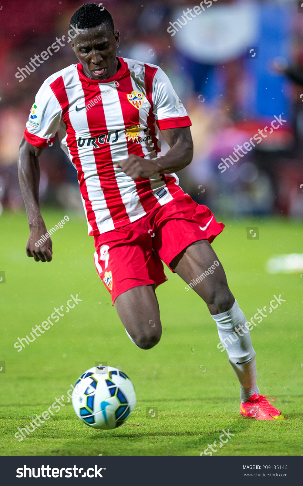 Nonthaburi Thailand Jul 30 Jonathan Zongo Almeria Controls Ball Country Boots Zongos Jul30jonathan Of The Playing During