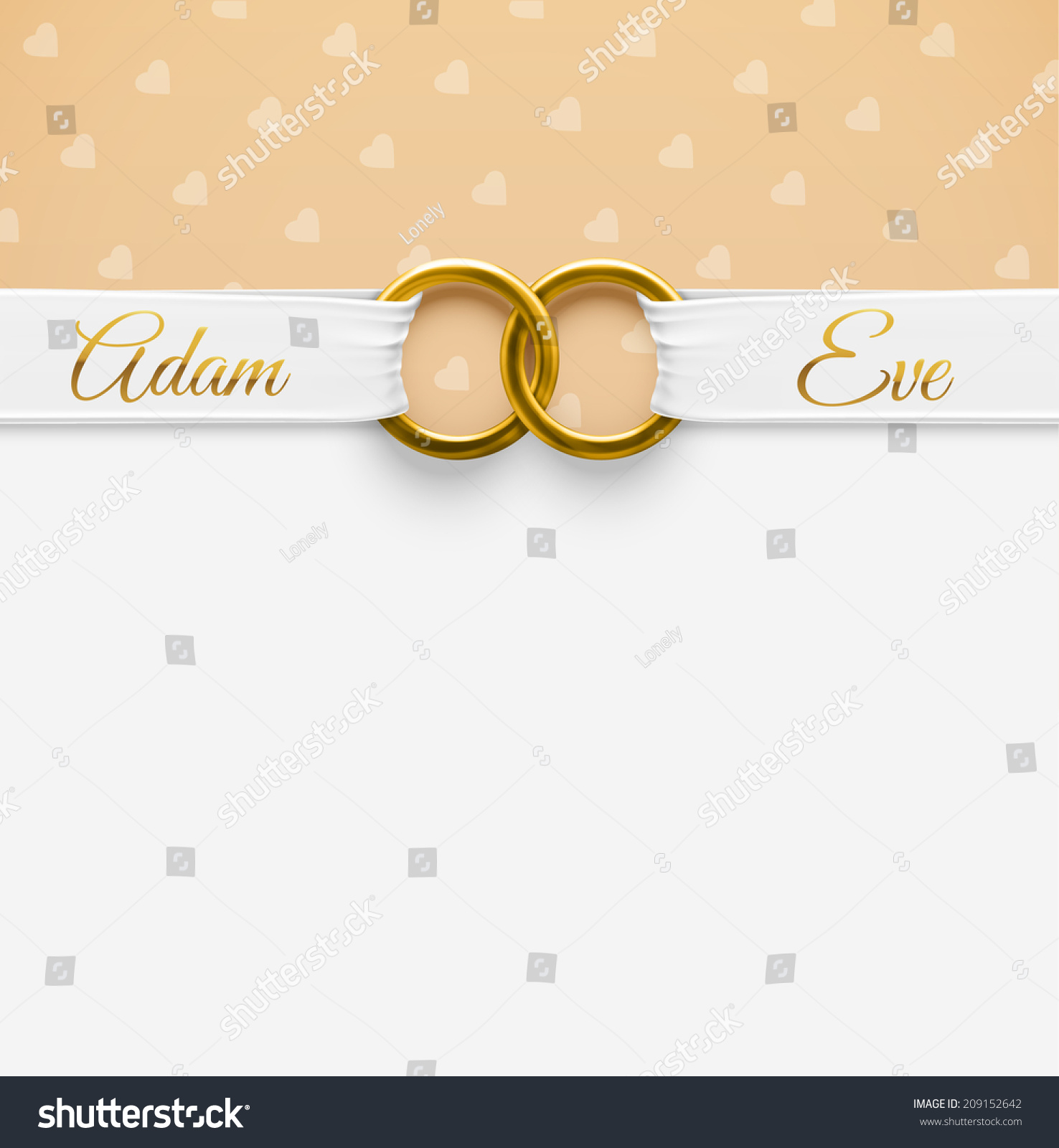 Wedding Background Rings Eps 10 Stock Vector 209152642 ...