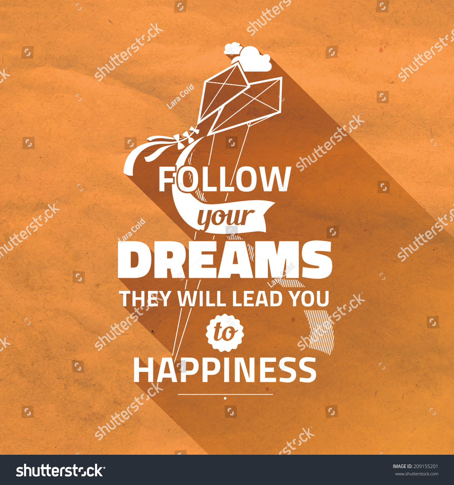 Typography Cute Vector Poster Follow Your Dreams They