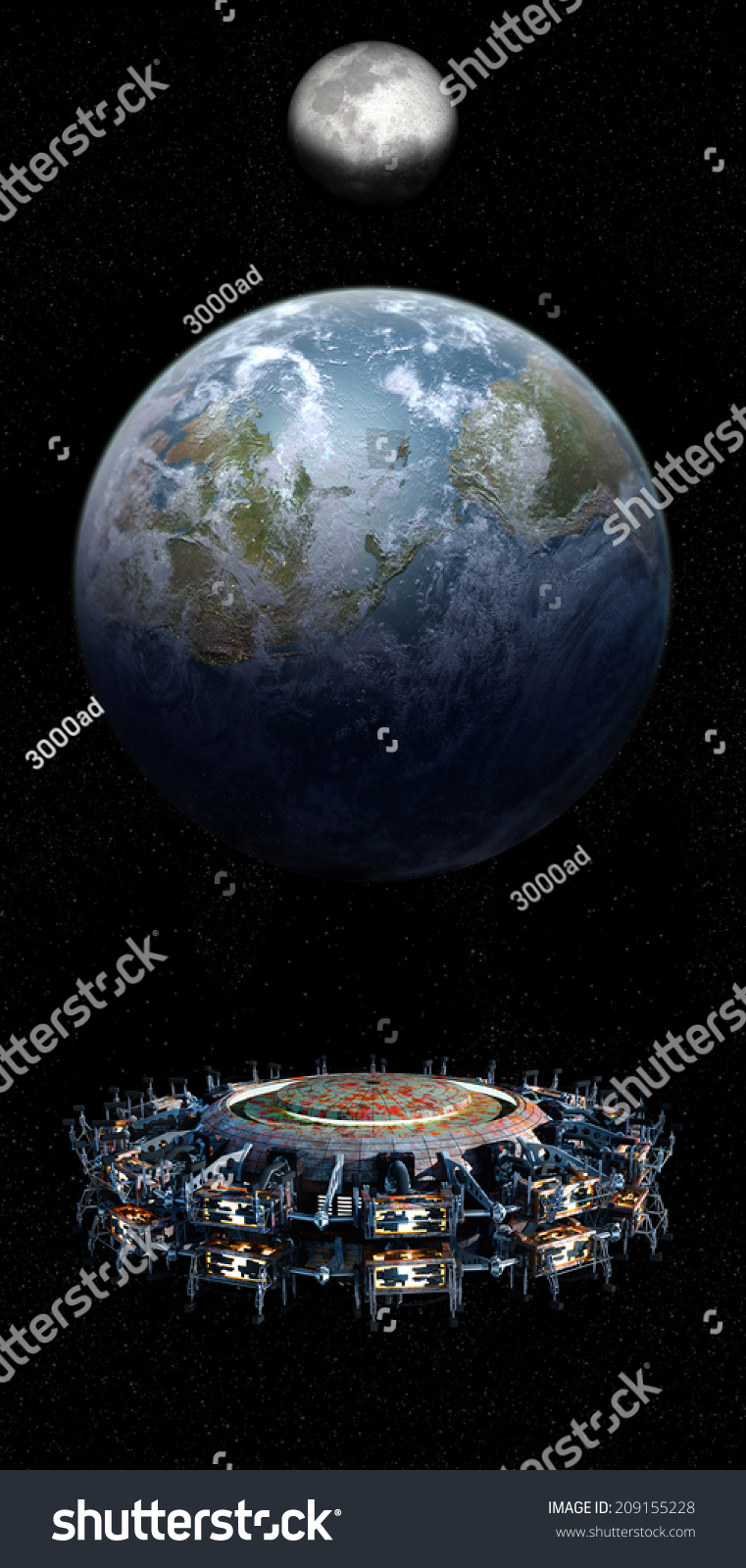 Elements Of This Image Furnished By Nasa. Alien Mothership ...