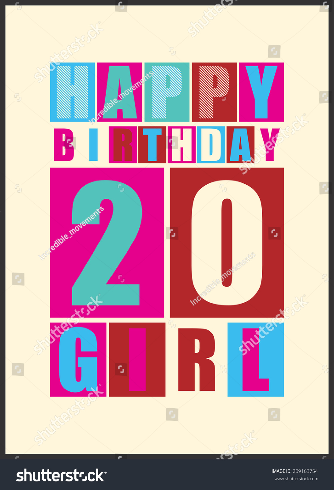 Retro Happy Birthday Card Happy Birthday Vector 209163754 – Gift Card Happy Birthday