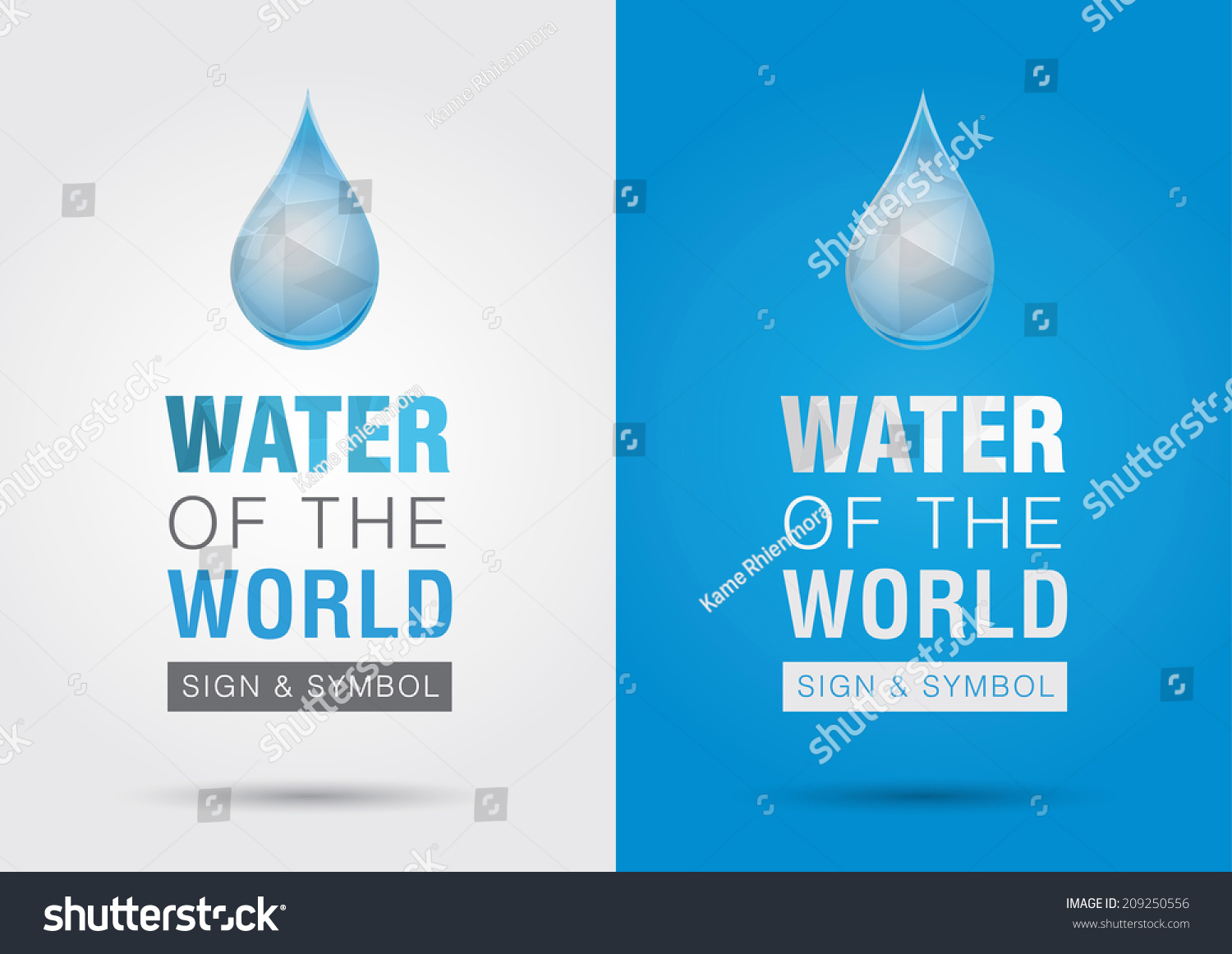 Water worldicon signage symbol water drop stock vector 209250556 water of the worldicon signage symbol water drop with the world creative marketing biocorpaavc Image collections