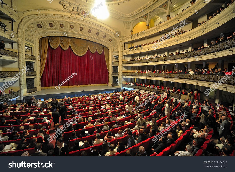 Havana, Cuba, - November. 5. 2010: Interior Of Gran Teatro ...
