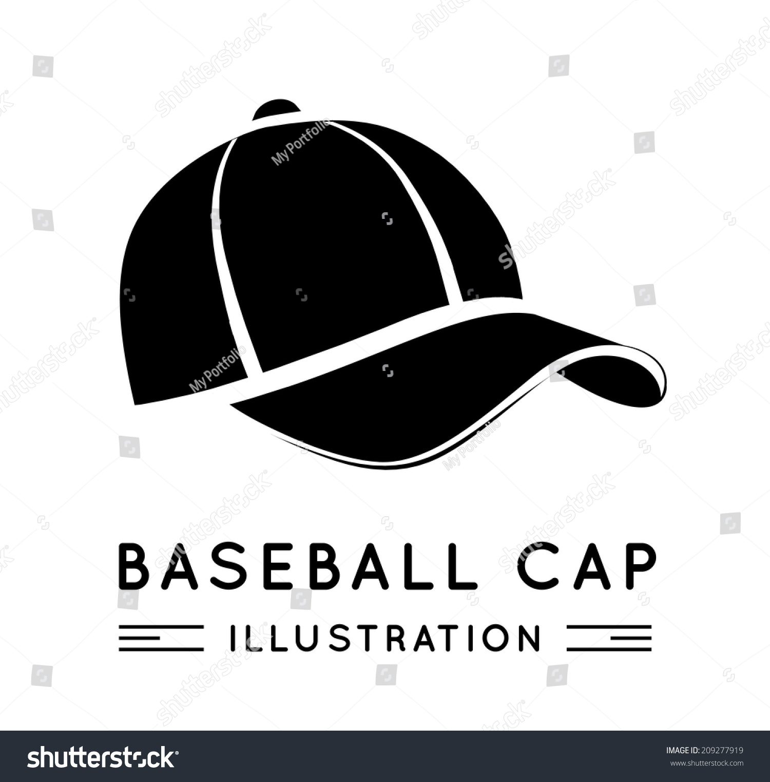 baseball cap flat style vector illustration stock vector