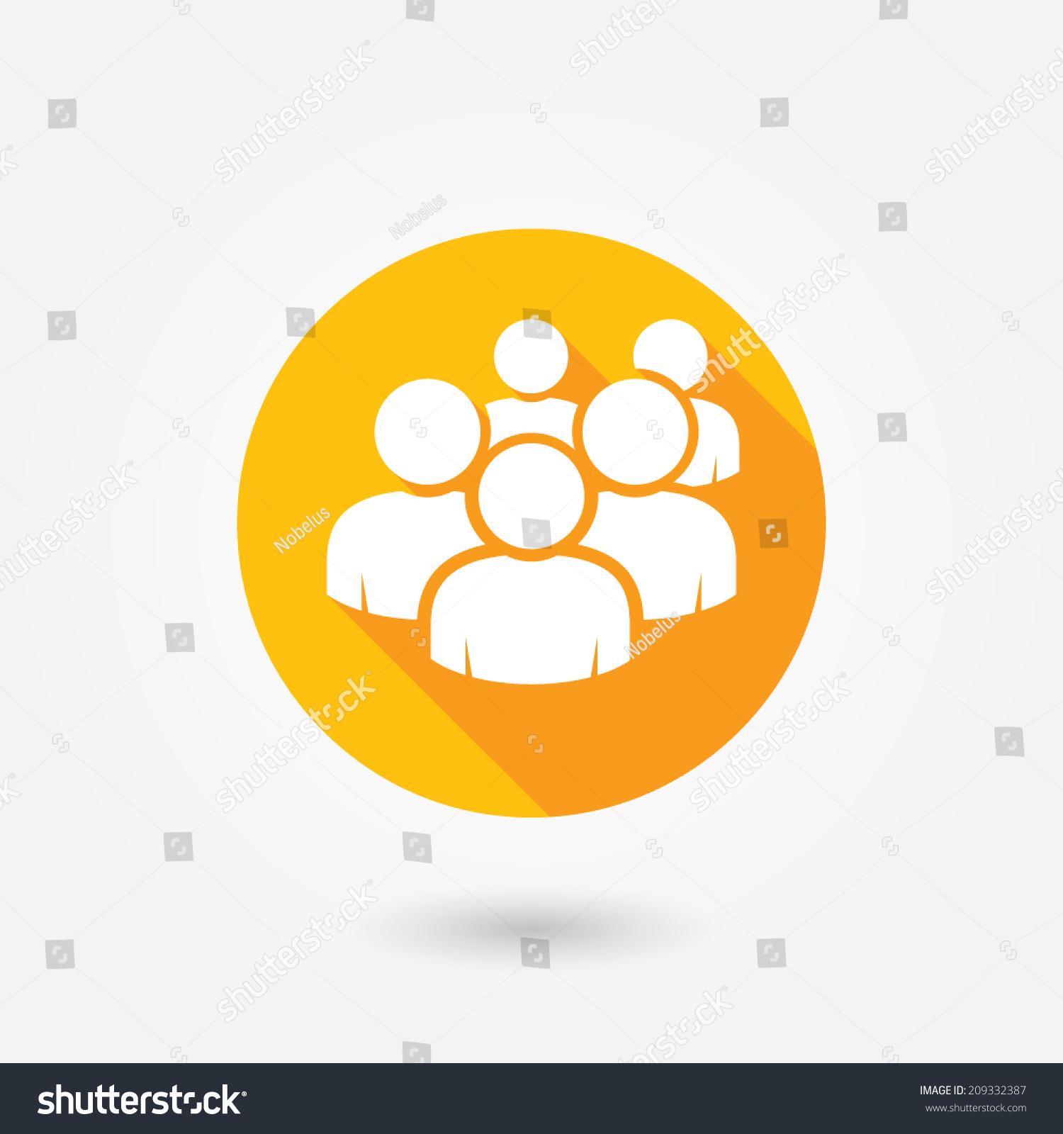 user group network icon flat icon stock vector 209332387