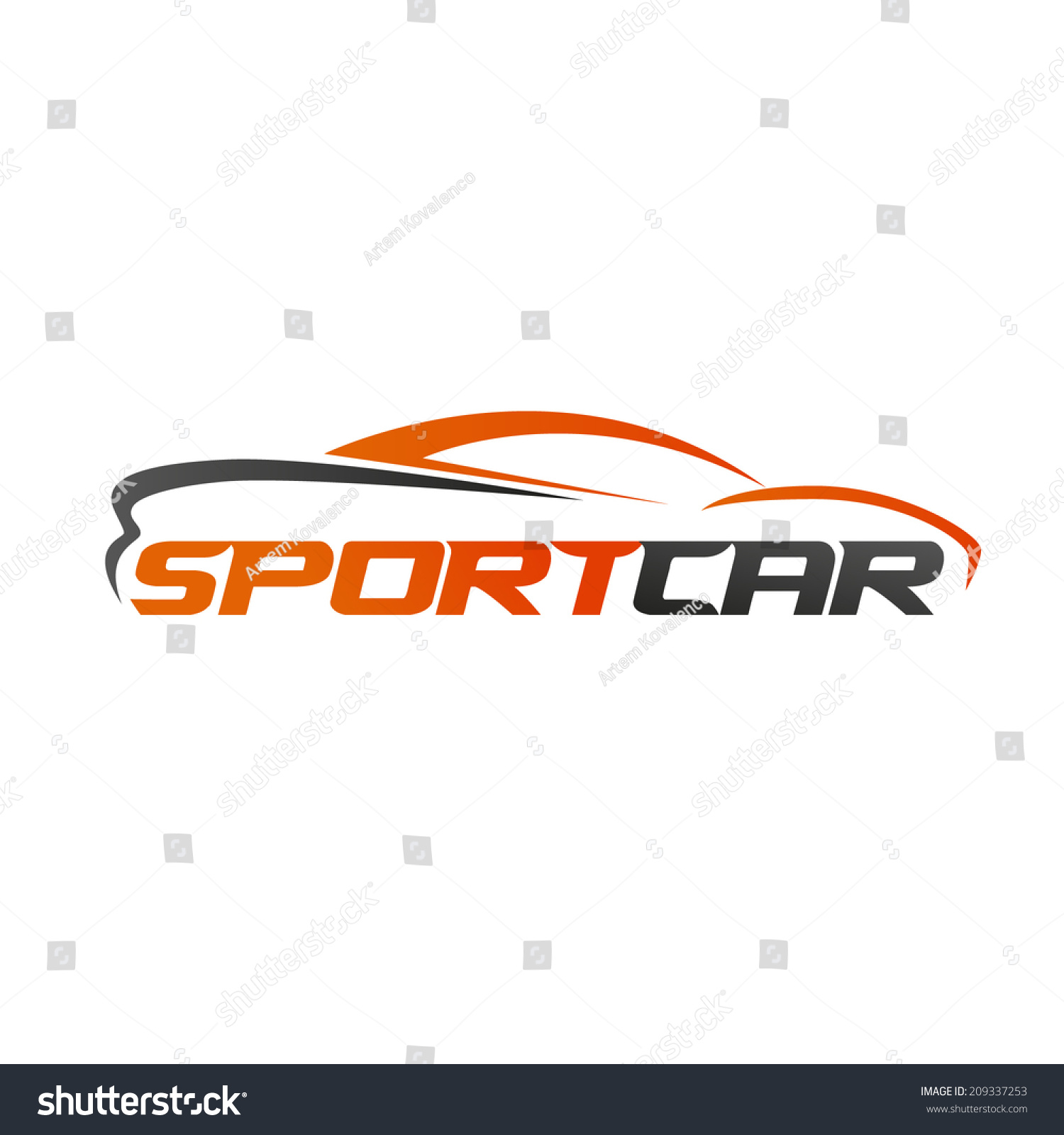 abstract sport car des...