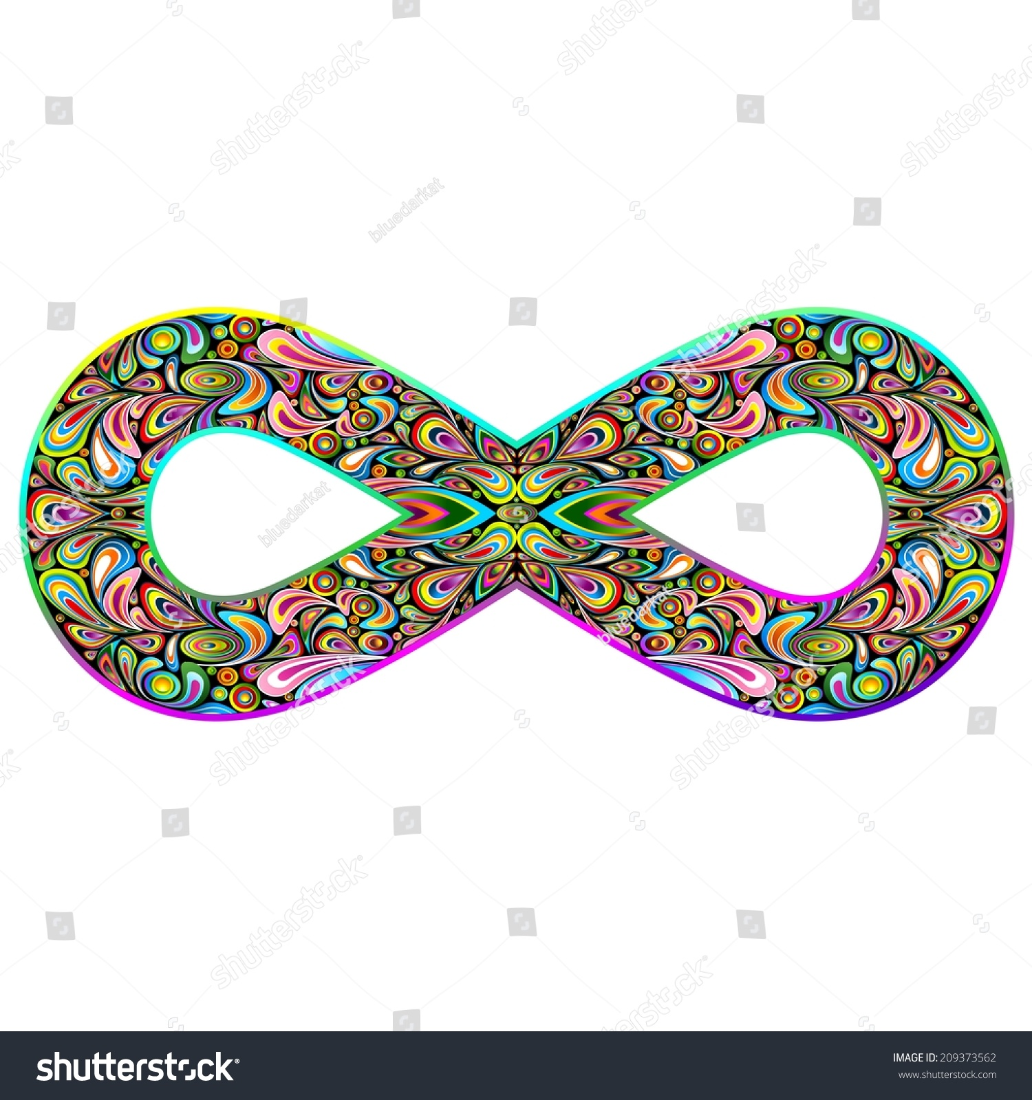 Infinity Psychedelic Symbol Stock Vector Royalty Free 209373562