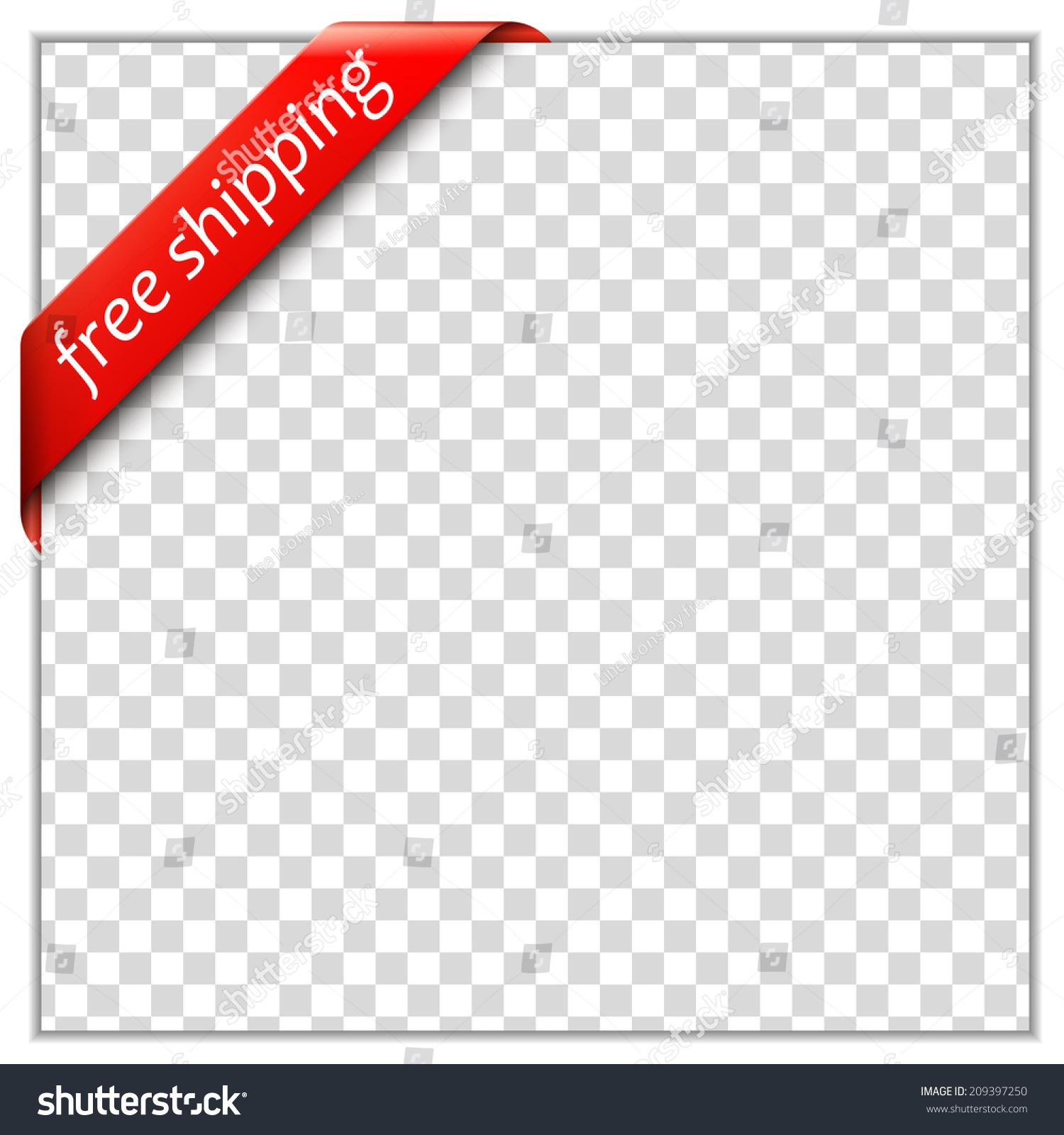 Free Shipping Corner Ribbon Corner Ribbon Vector 209397250 – Free White Paper Template