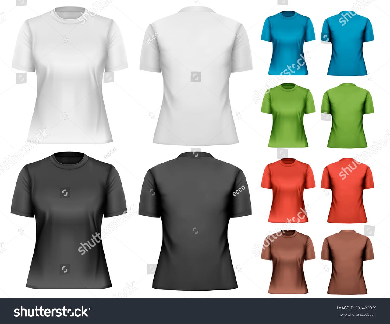 Female shirt design template