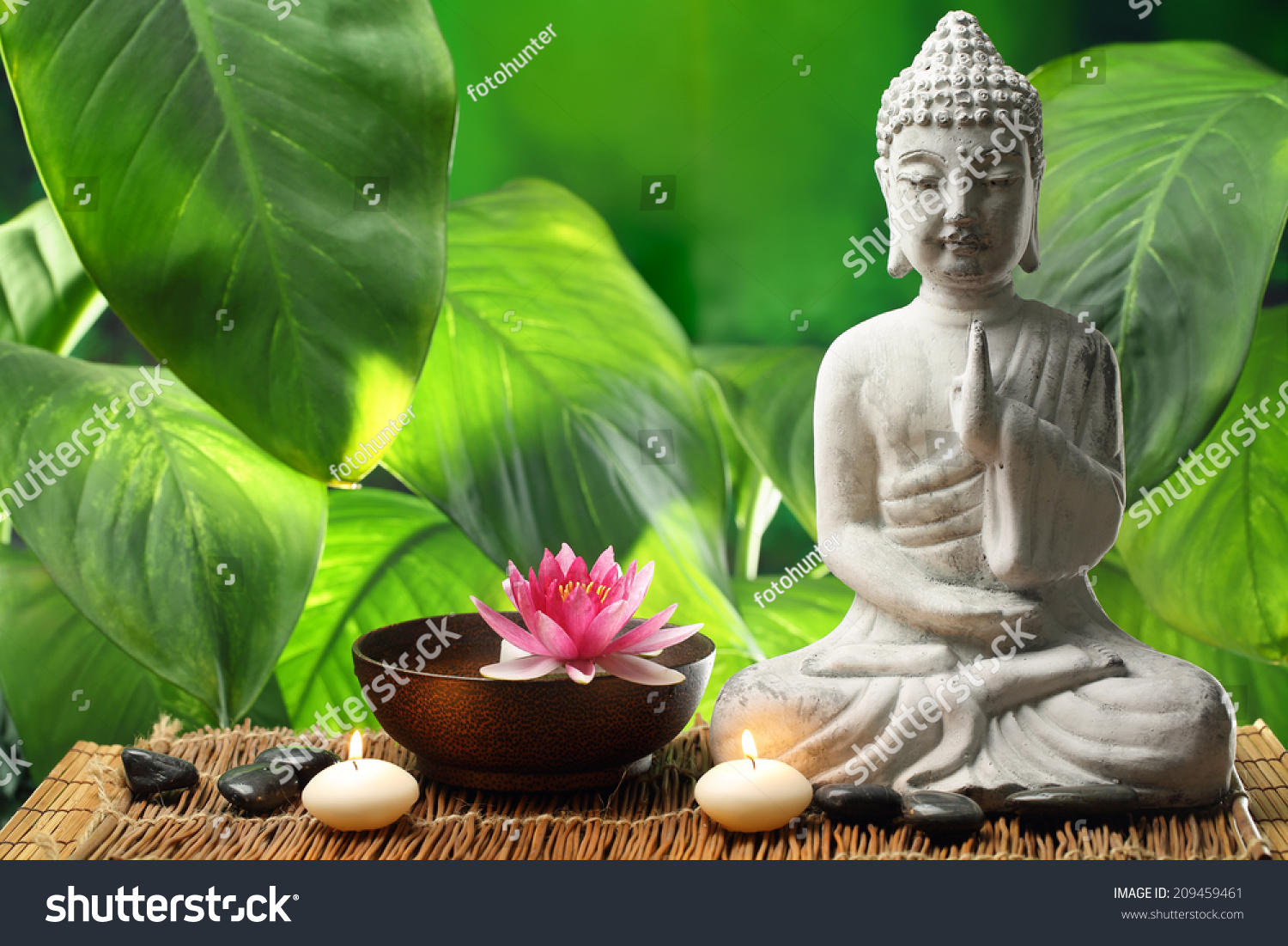 Buddha meditation lotus flower burning candles stock photo edit now buddha in meditation with lotus flower and burning candles izmirmasajfo
