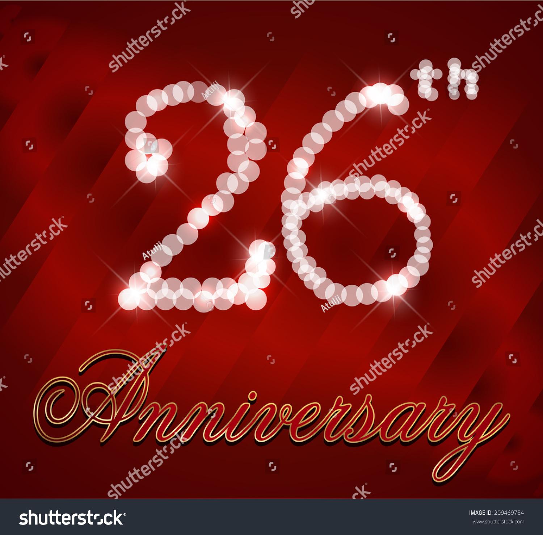 Royalty Free 26 Year Happy Birthday Card 26th 209469754 Happy Birthday Wishes For 26 Year