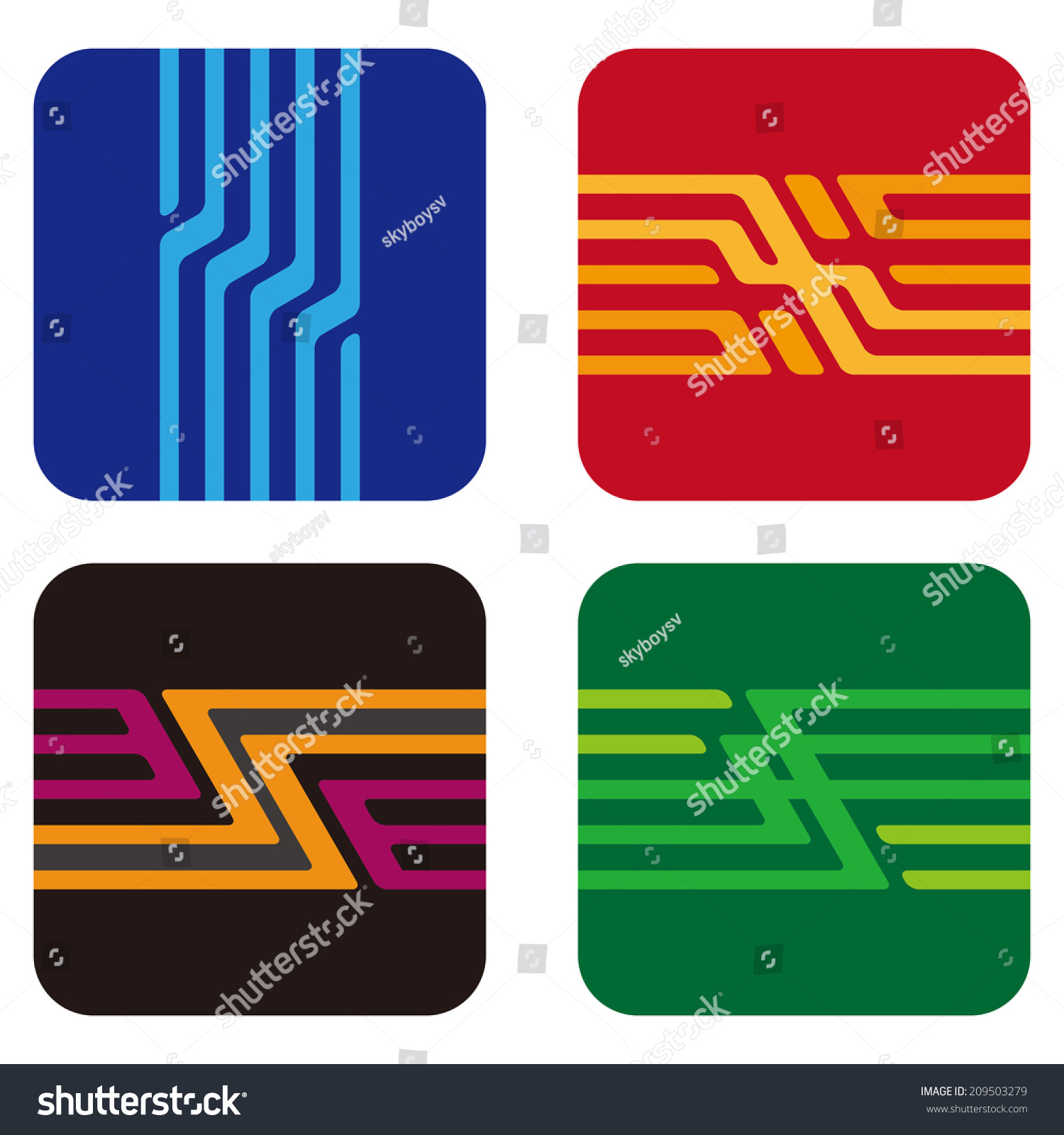 Square Design Abstract Vector Logo Template Stock Royalty Uses Of Integrated Circuits You Can Use In The Chips Electronics