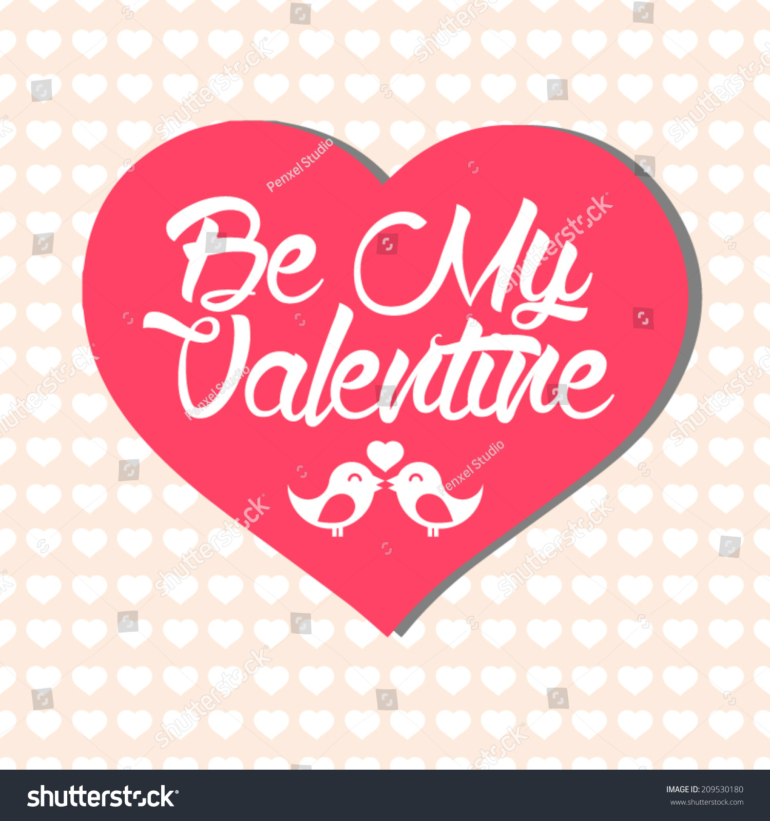 simple valentines day card with big heart big valentines day cards