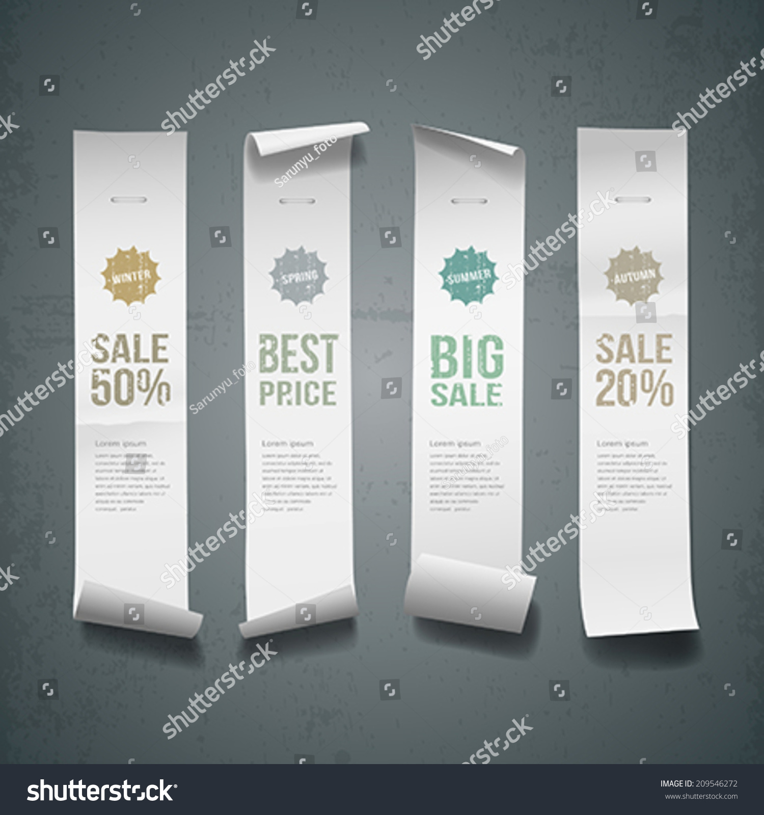 White Paper Roll Long Size Vertical Stock Vector