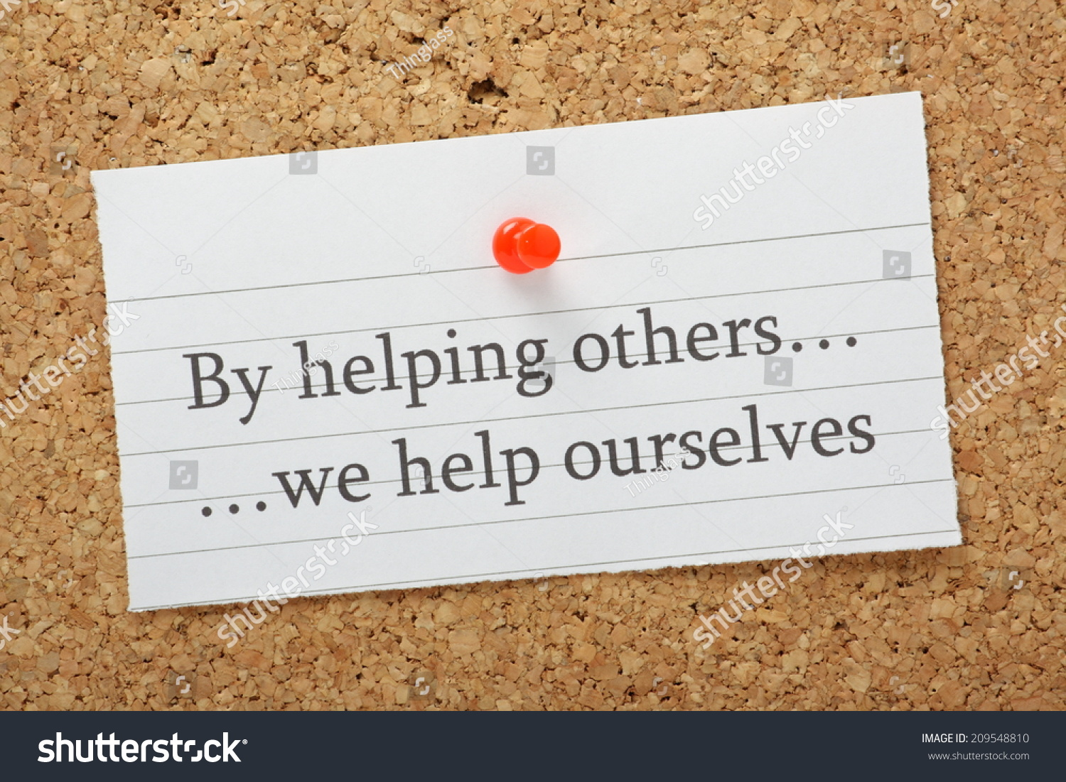 phrase by helping others we help stock photo shutterstock the phrase by helping others we help ourselves typed on a piece of lined paper pinned