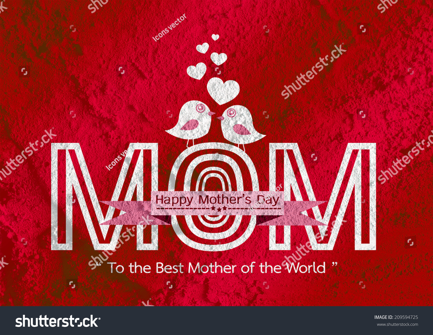 Happy Mothers Day Greeting Card Design Stock Illustration 209594725