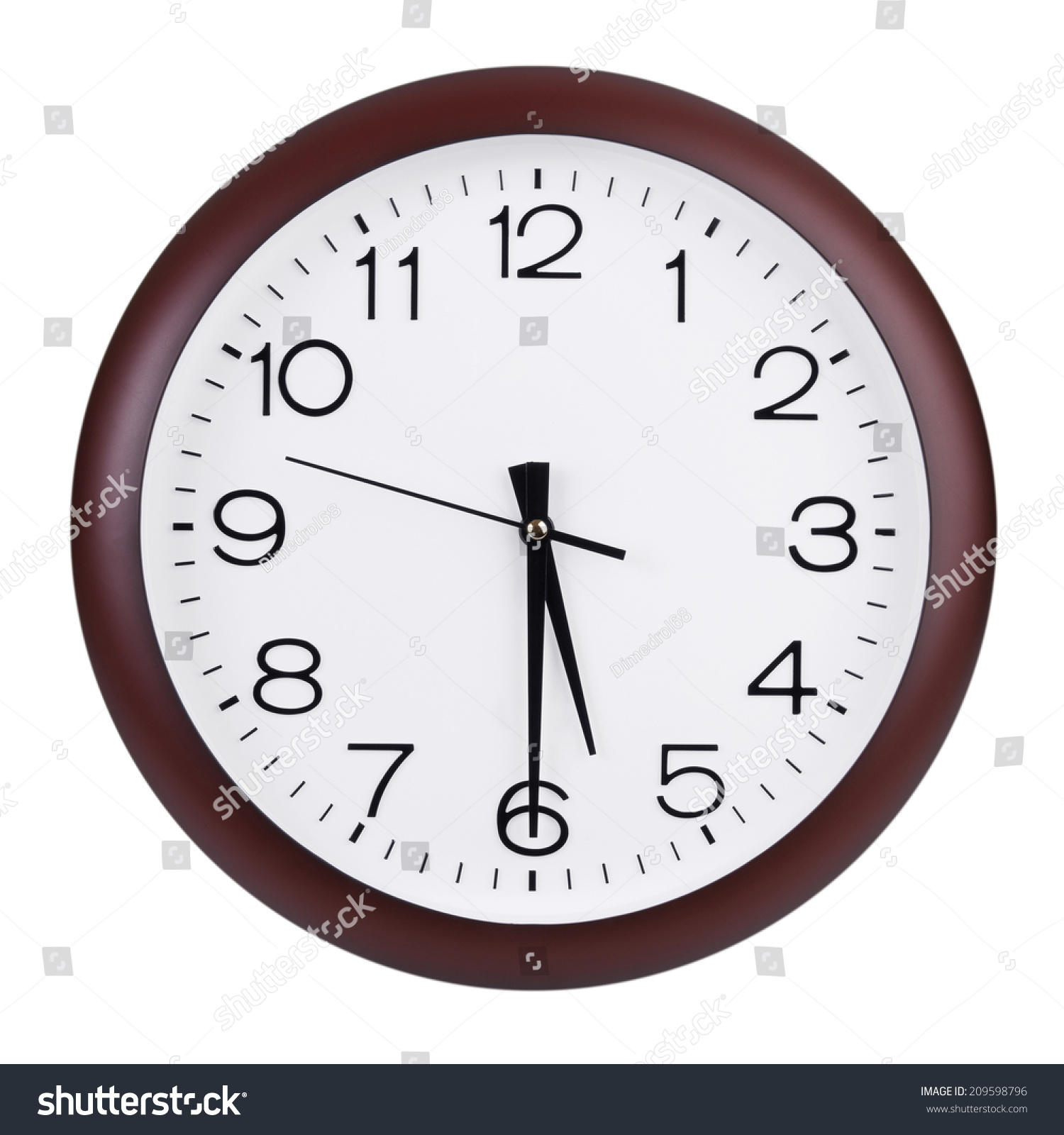 Half Past Five Oclock On Dial Stock Photo 209598796 - Shutterstock