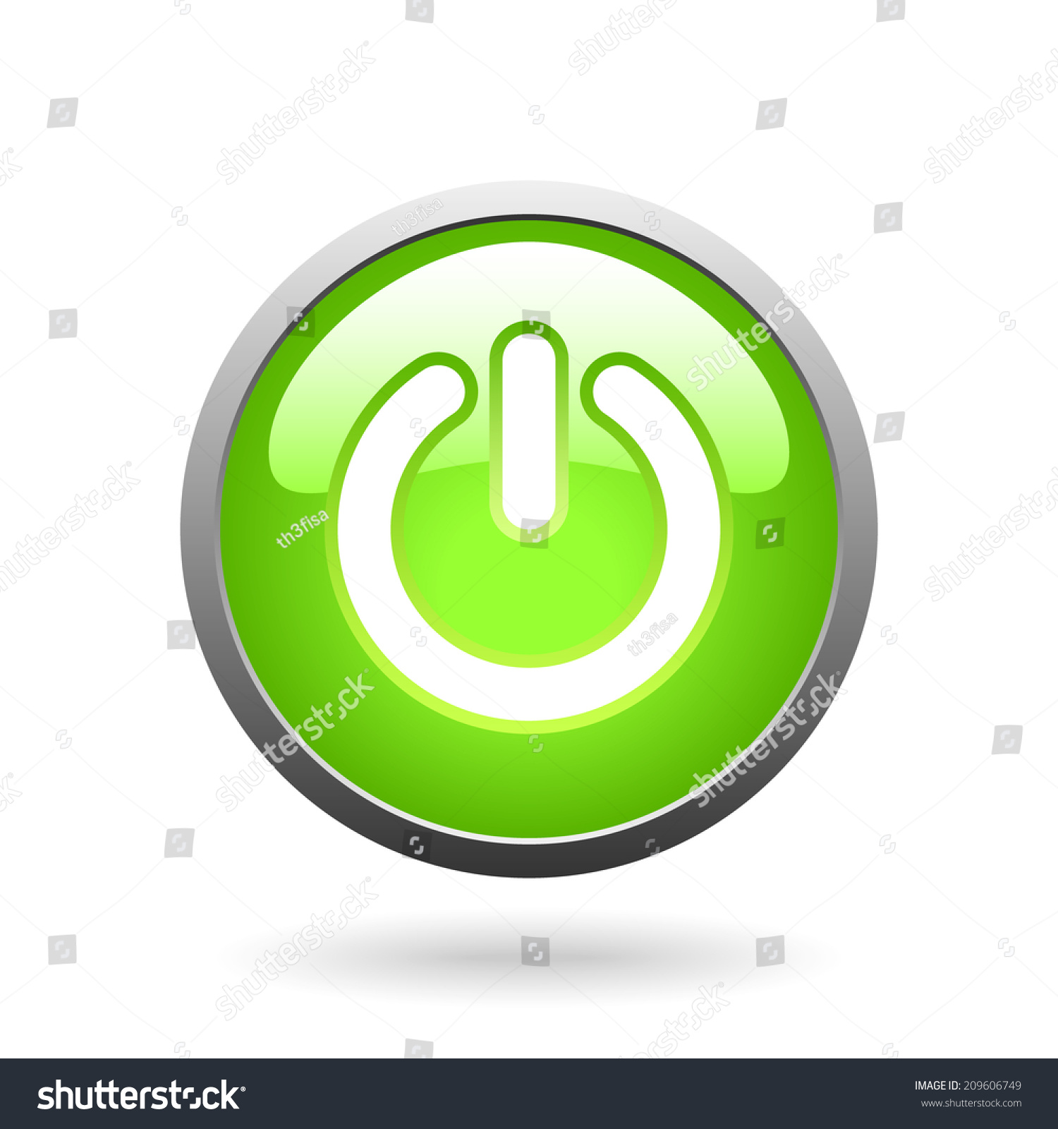 Vector Green Glass Button Switch Symbol Stock Vector (Royalty Free ...