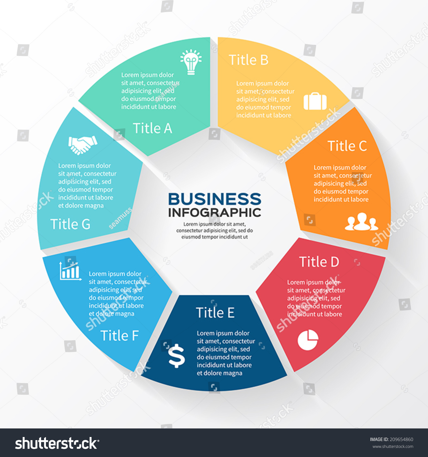 Vector Circle Infographic Template Diagram Graph Stock ...